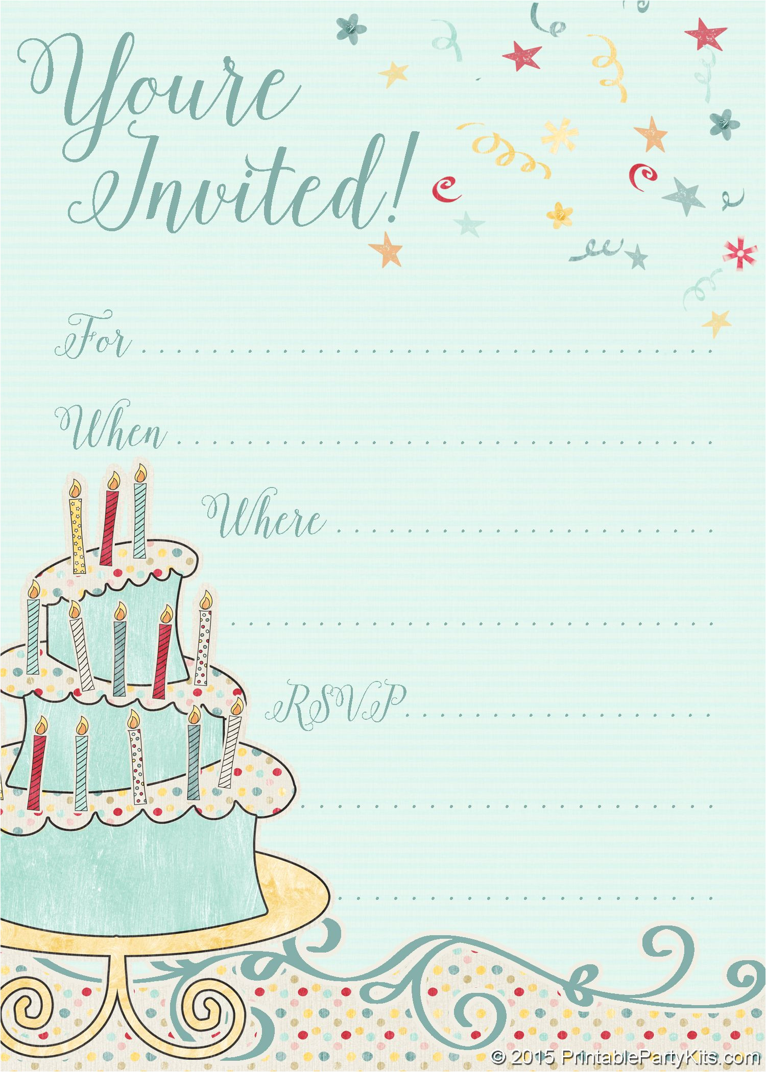 Design Invitation Card Birthday Party Free Printable Whimsical Birthday Party Invitation T with