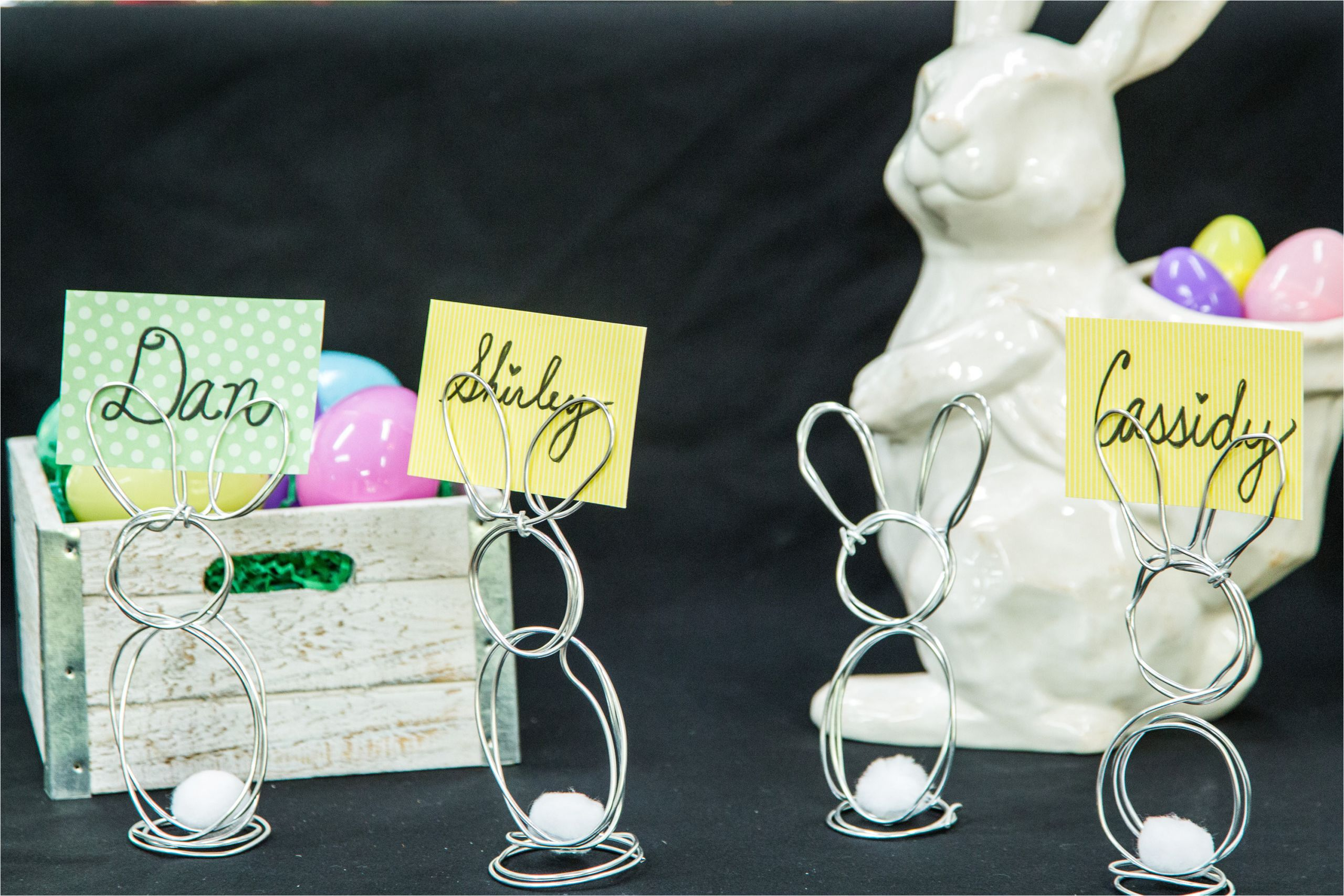 home family diy wire easter bunny place cards jpg