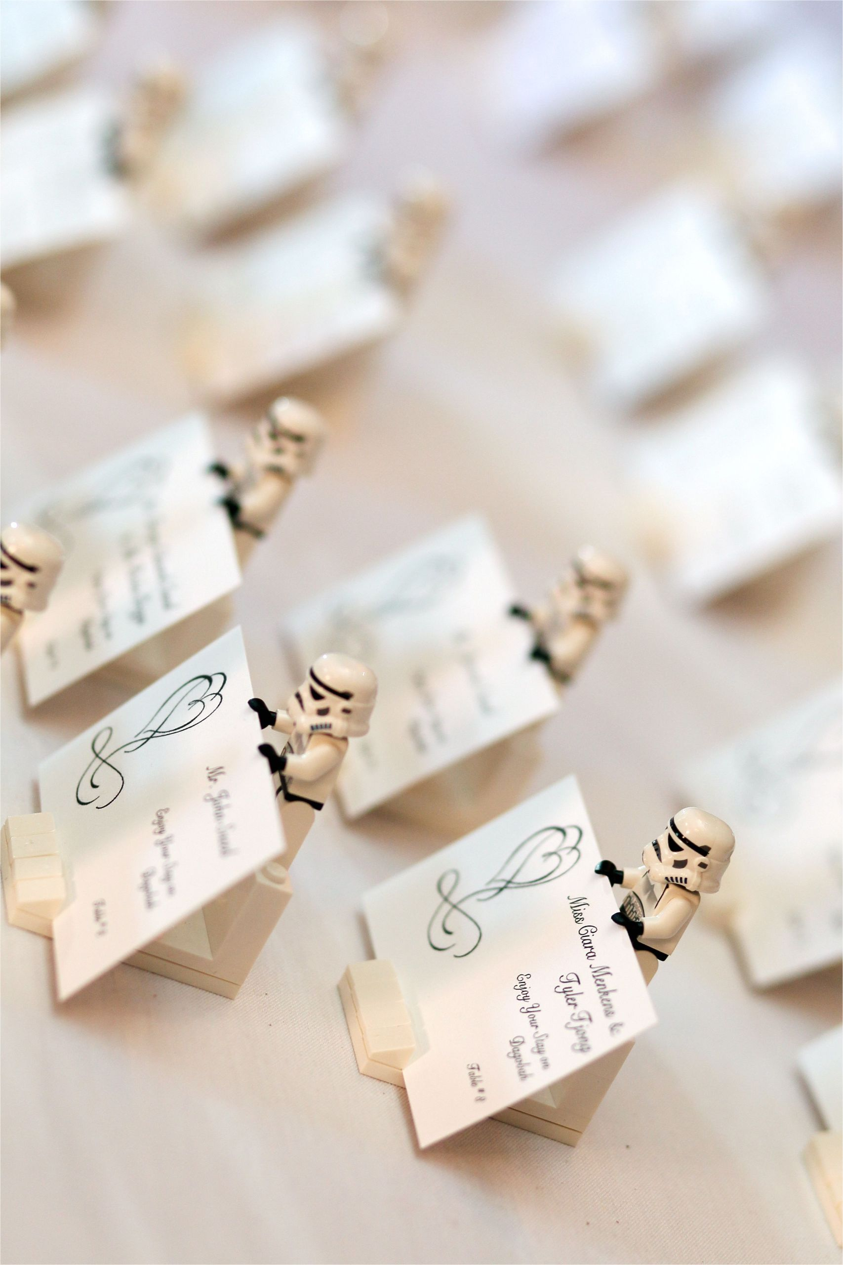 Diy Card Holder for Wedding Our Place Card Holders Made From Lego Stormtroopers