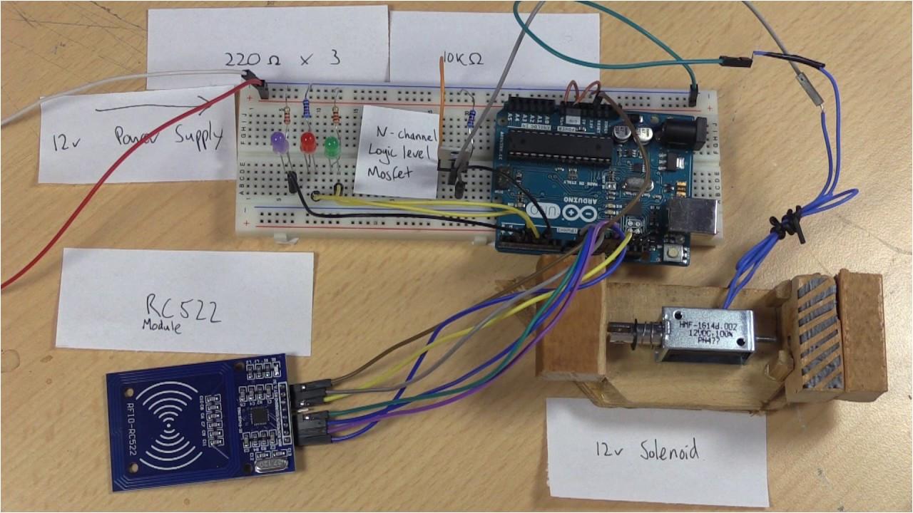 Diy Card Reader Door Lock Diy Smart Lock with Arduino and Rfid