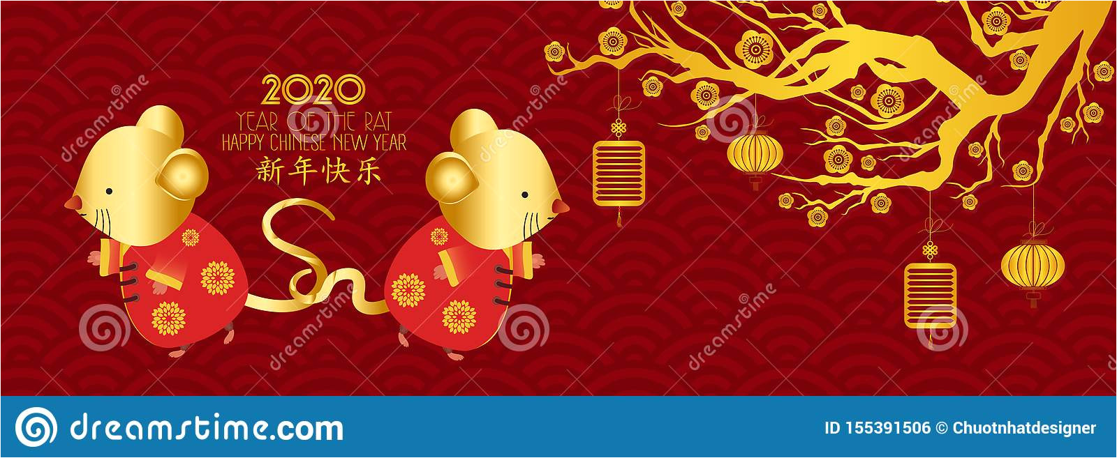 chinese new year rat red gold paper cut character flower asian elements craft style background translation 155391506 jpg