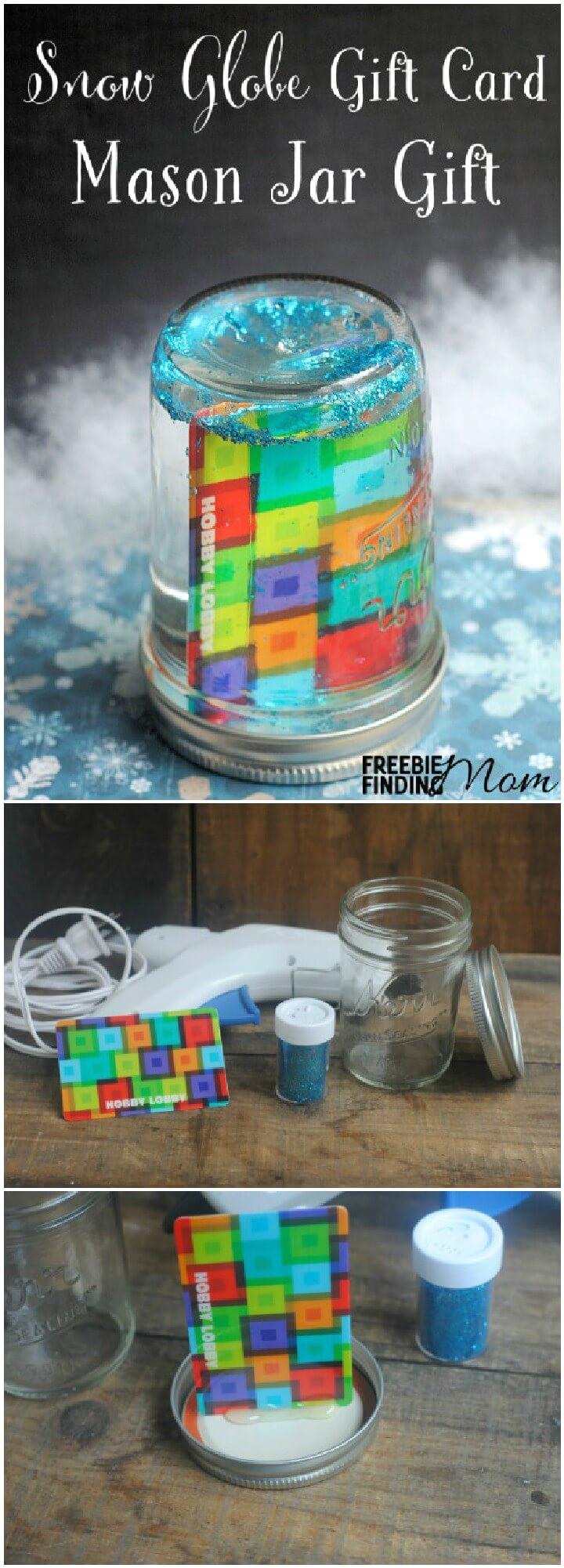 diy easy snow globe mason jar gift jpg