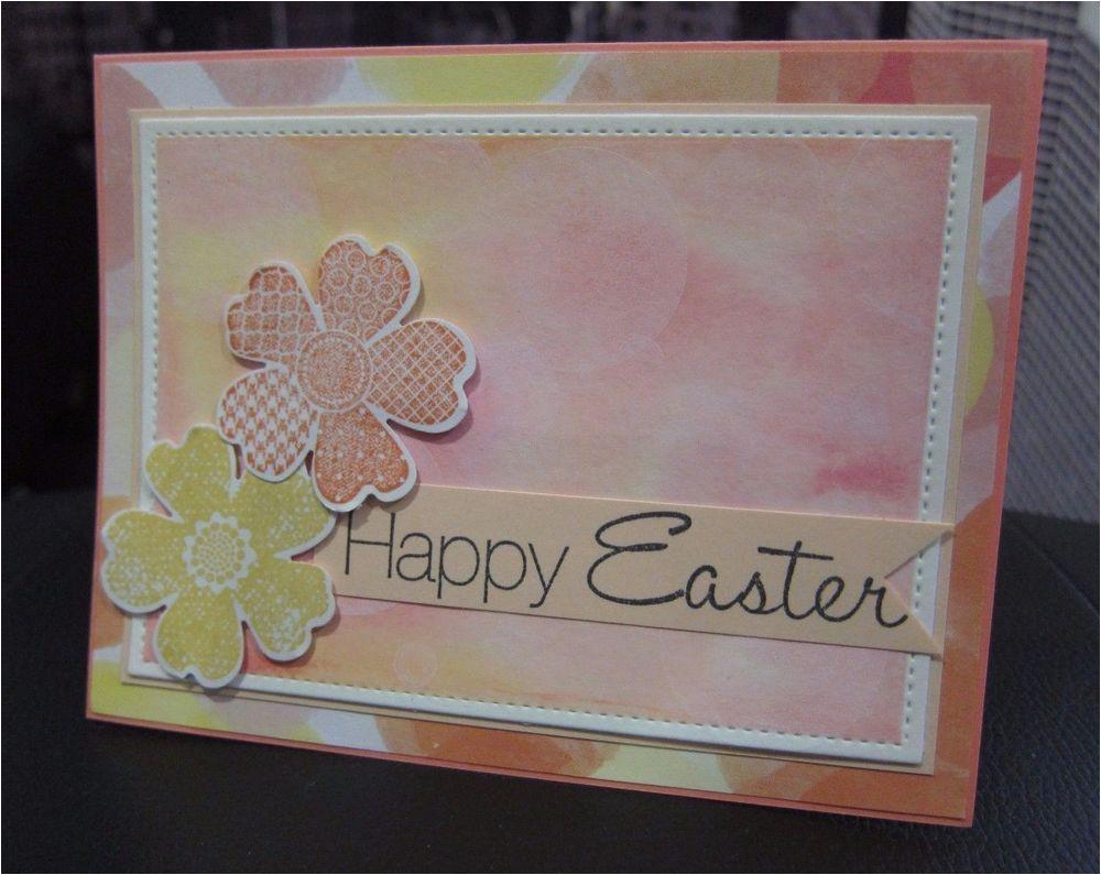 Diy Handmade Greeting Card Kits Diy Stampin Up Happy Easter Watercolor Bokeh Flower
