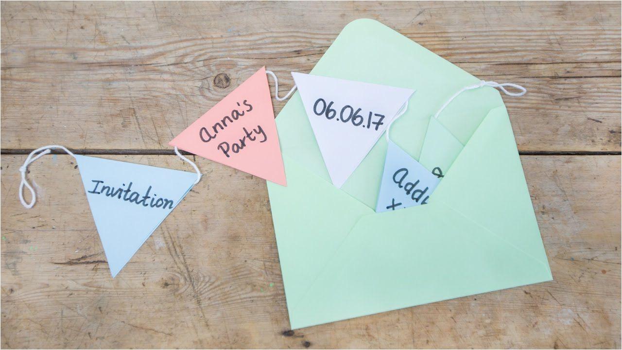 Diy Invitation Card for Birthday Diy Fun Invitations for Parties by Sa Strene Grene