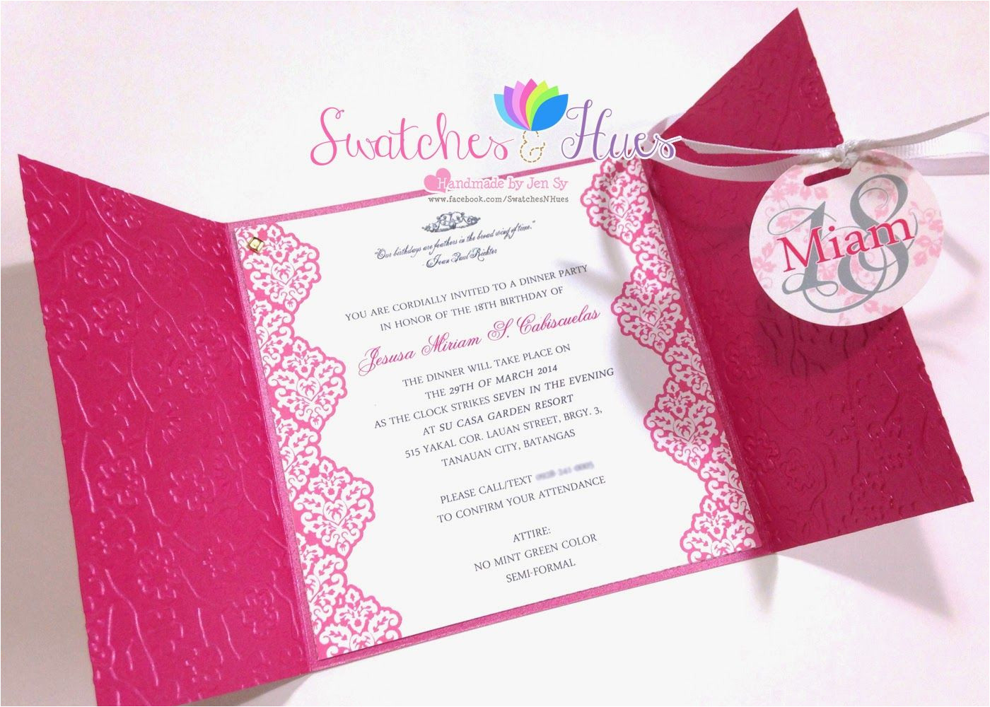 Diy Invitation Card for Debut Princess theme Gate Fold Debut Invitation Birthday Party