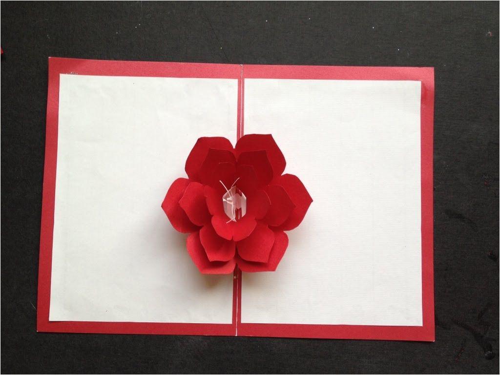 Diy Pop Up Card Flower Easy to Make A 3d Flower Pop Up Paper Card Tutorial Free