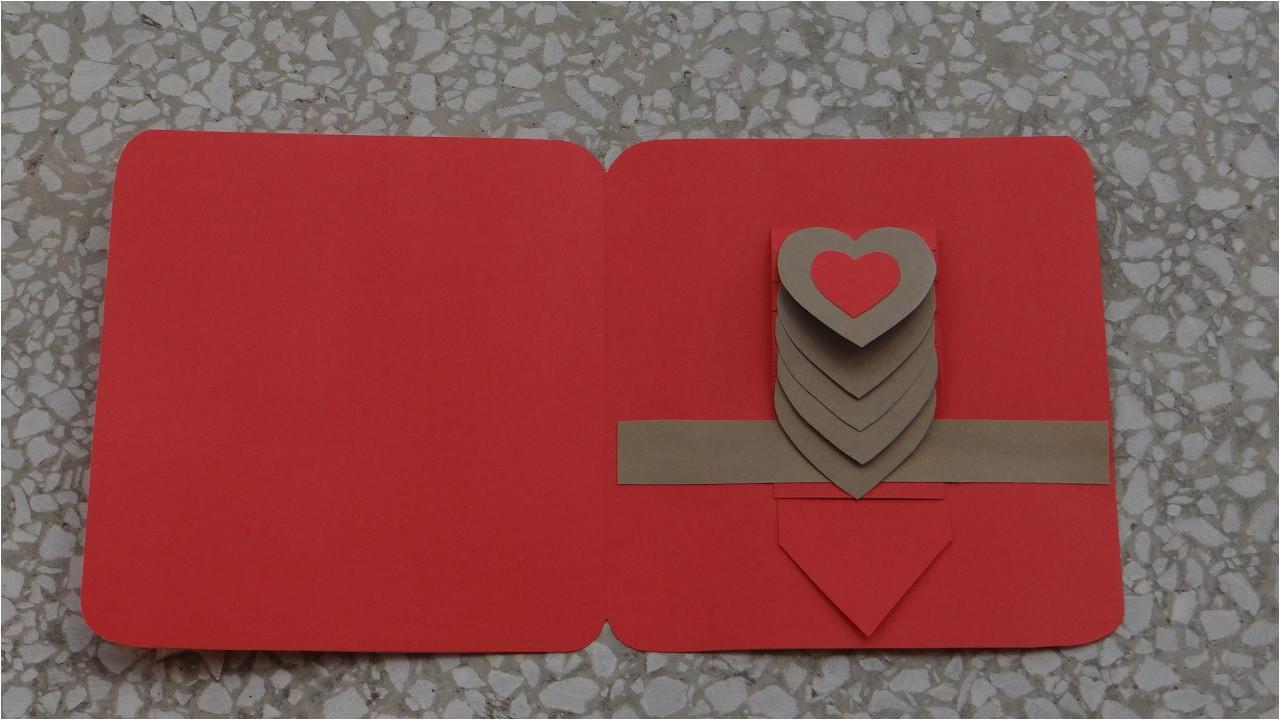 Diy Pop Up Flower Card How to Make Waterfall Heart Card Basic Tutorial Diy Kako Napraviti Osnovu Vodopad Cestitke