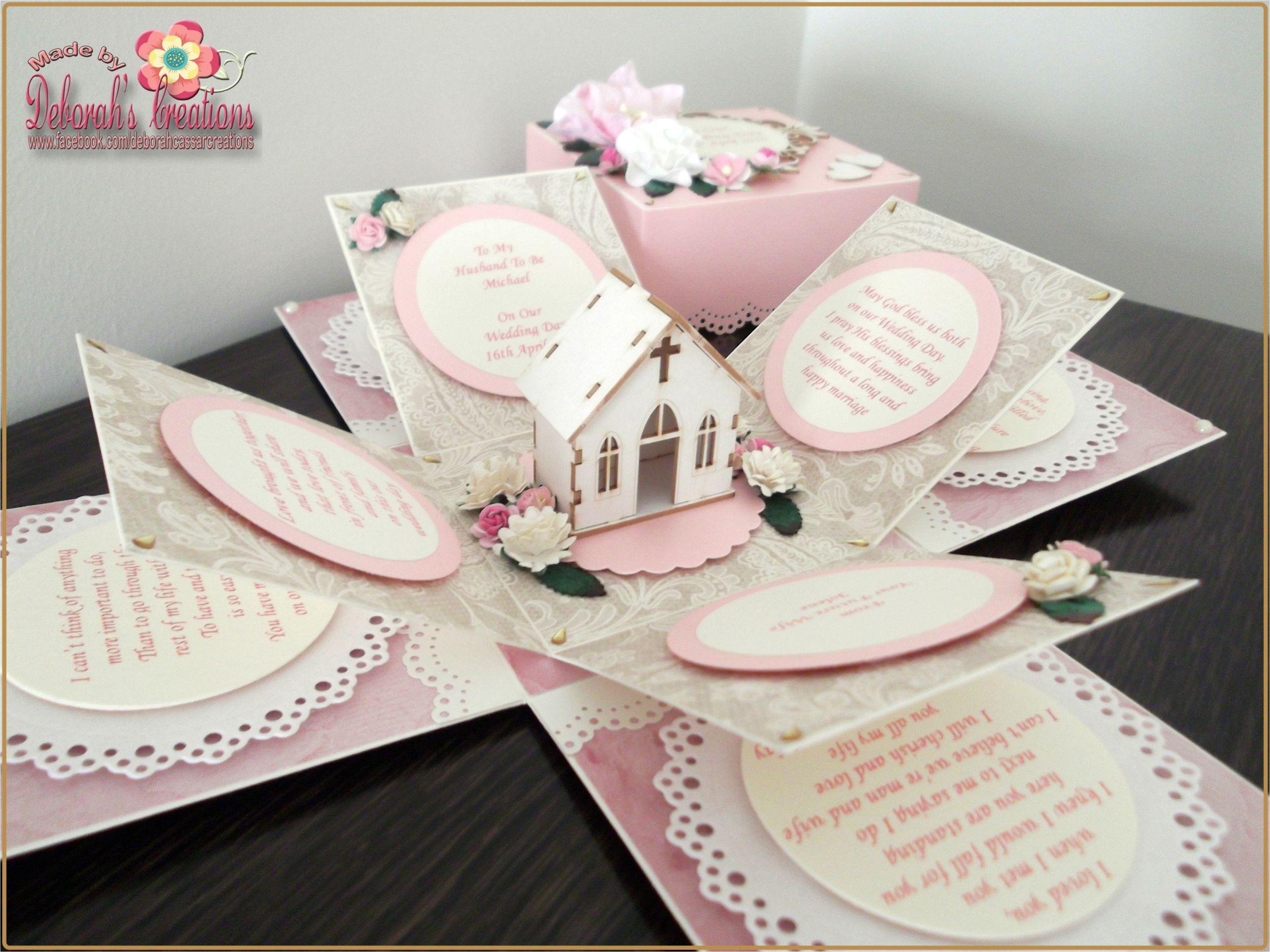 Diy Wedding Card Box Michaels Wedding Exploding Box Card with Burlap Church theme