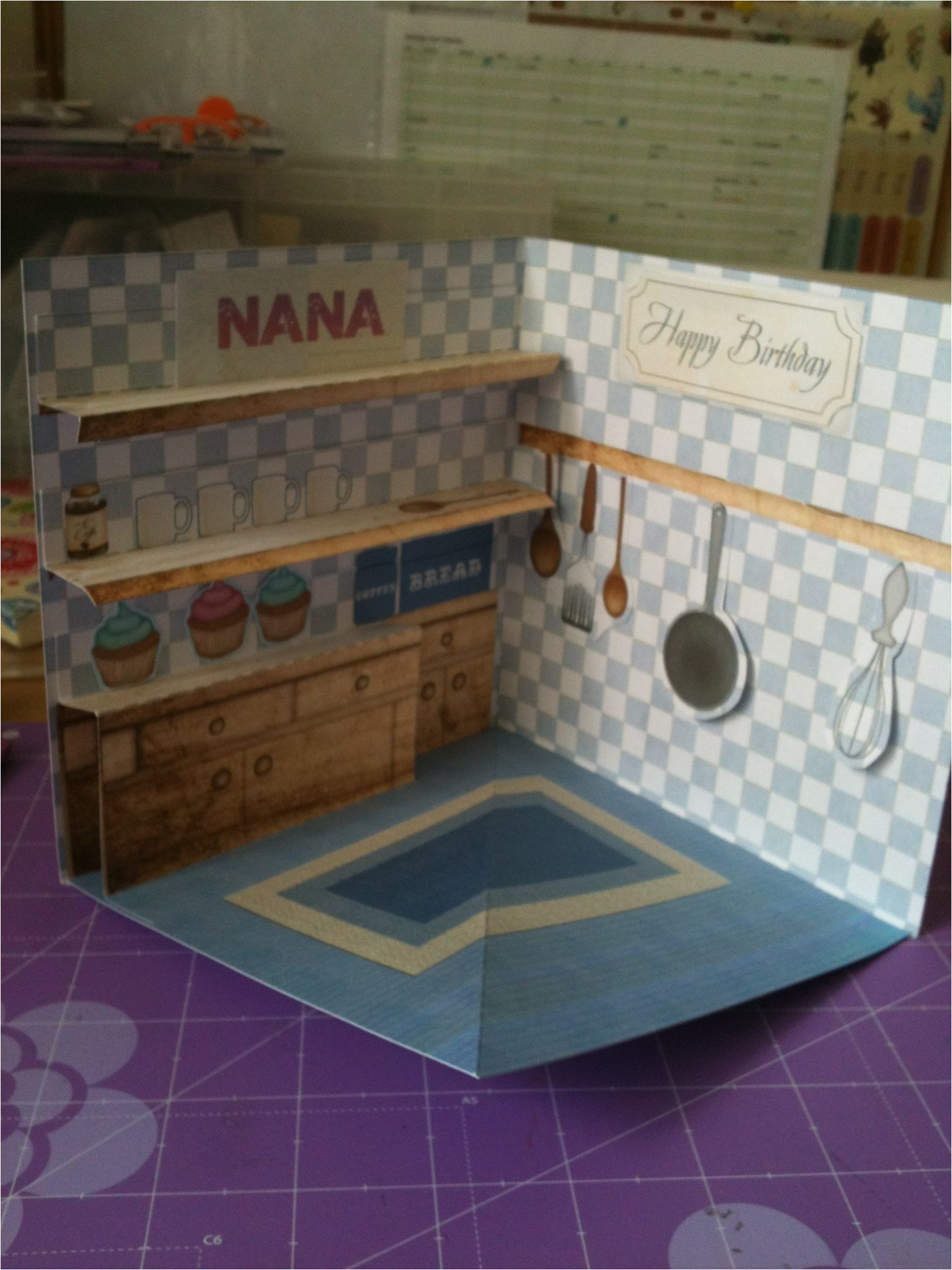Diy Xmas Pop Up Card 3d Kitchen Card with Images Pop Up Cards Greeting Cards