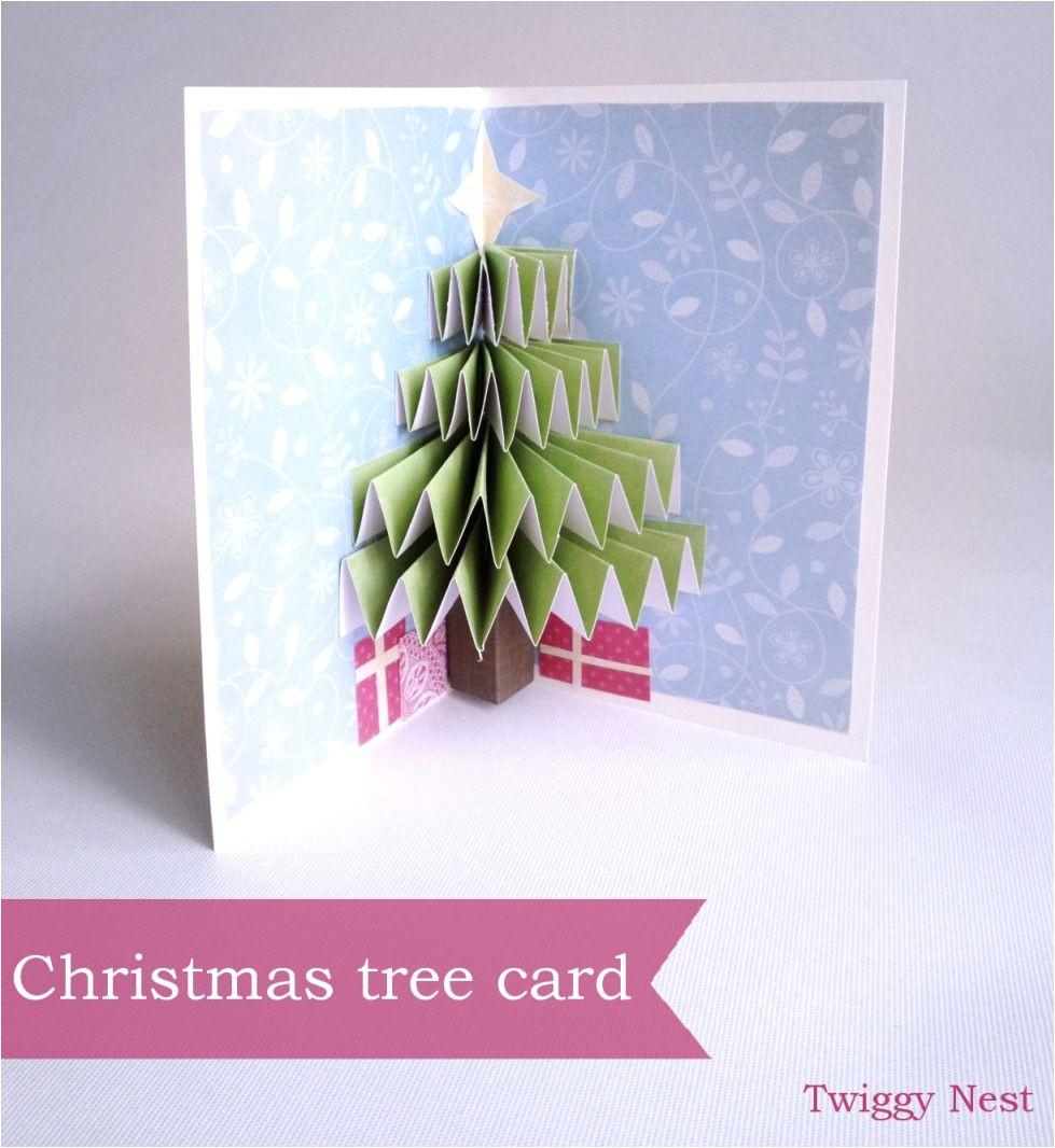 Diy Xmas Pop Up Card Christmas Tree Pop Up Card Pop Up Christmas Cards Diy