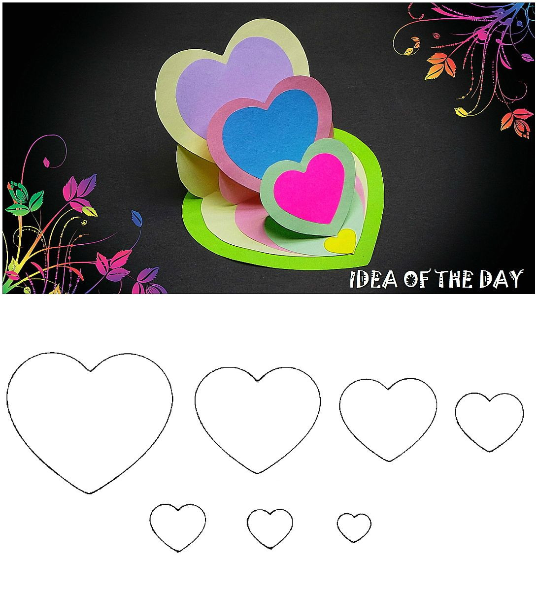 Easy and Simple Card Designs Diy Triple Heart Easel Card Tutorial This Template for