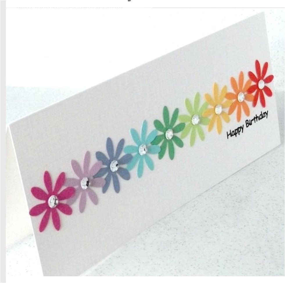 Easy and Simple Card Designs I Would Definitely Want This Colorfull Card On My Birthday