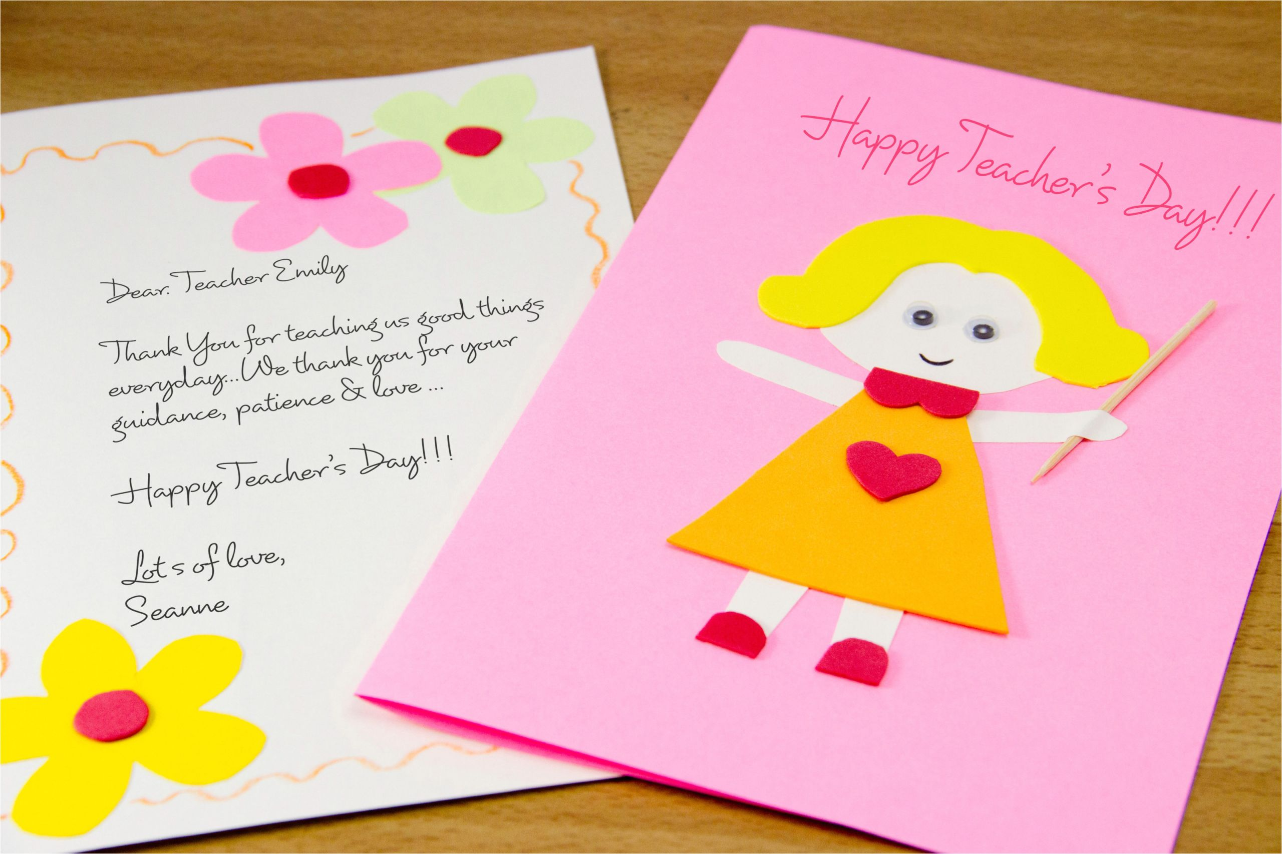 Easy Card Making Ideas for Teachers Day How to Make A Homemade Teacher S Day Card 7 Steps with