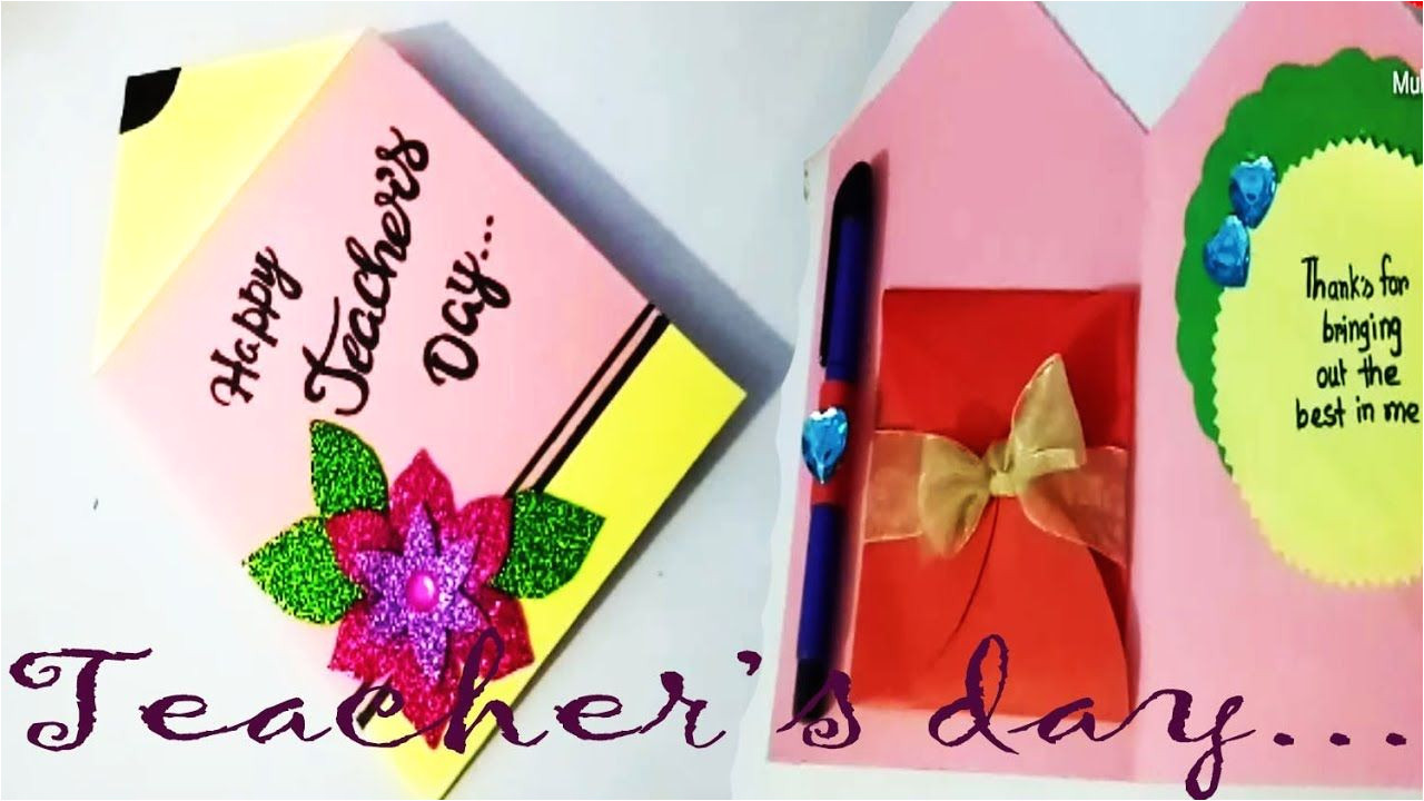 Easy Handmade Teachers Day Card Pin by Ainjlla Berry On Greeting Cards for Teachers Day