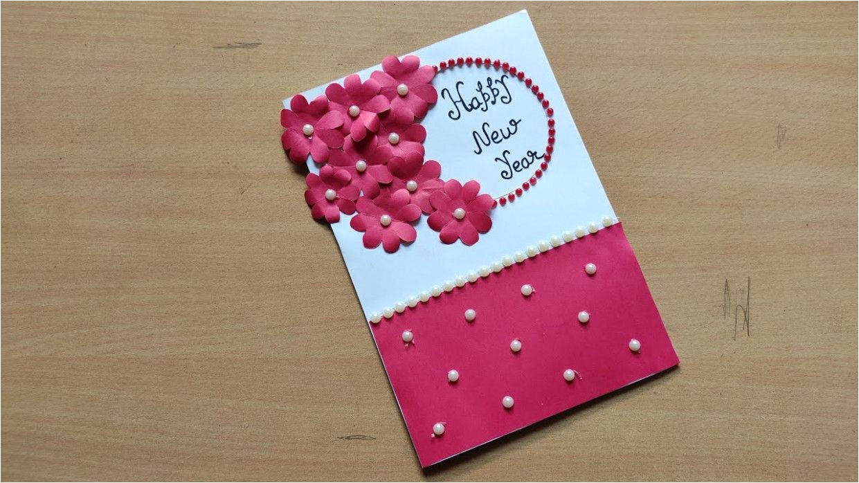 Easy New Year Greeting Card Simple New Year Card Making Simple New Year Card Making