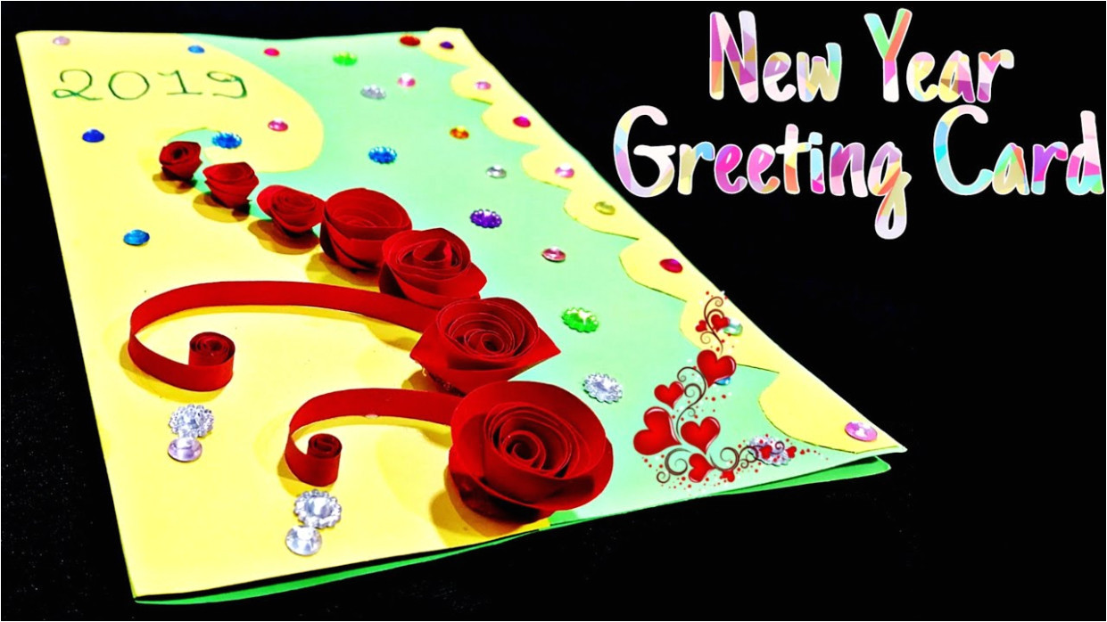 new year greeting card how to make greeting card for new year new year card making handmade jpg