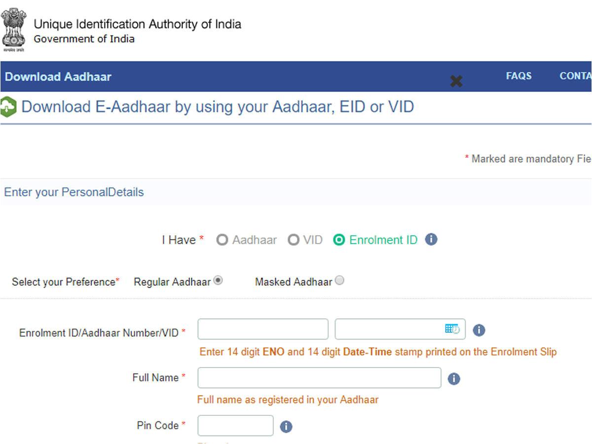Eid Number In Aadhar Card Aadhaar Virtual Id Uidai Has Made Generation Of Aadhaar