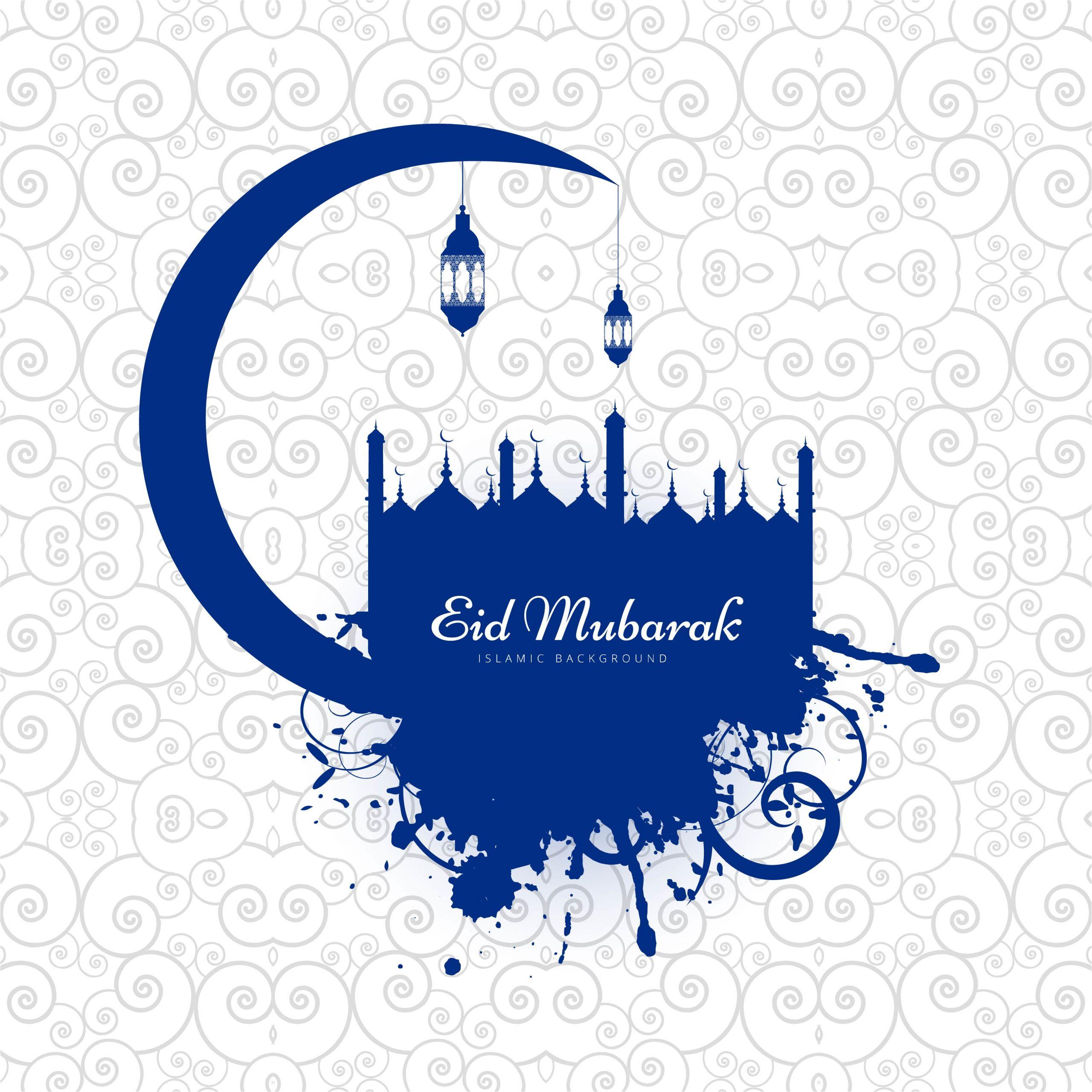 modern eid mubarak background card vector jpg