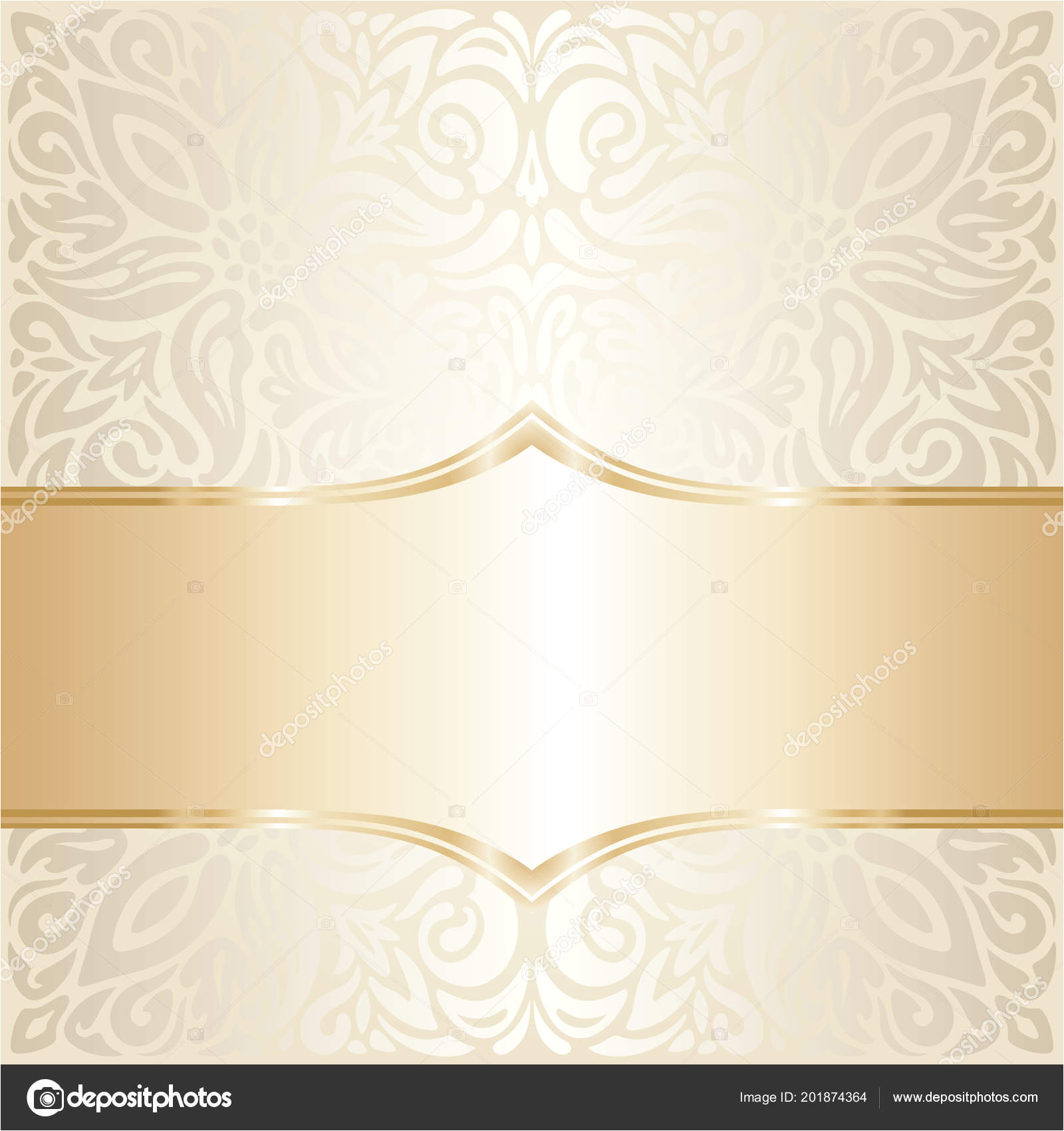 90 900339 floral wedding invitation wallpaper trend design ecru gold jpg