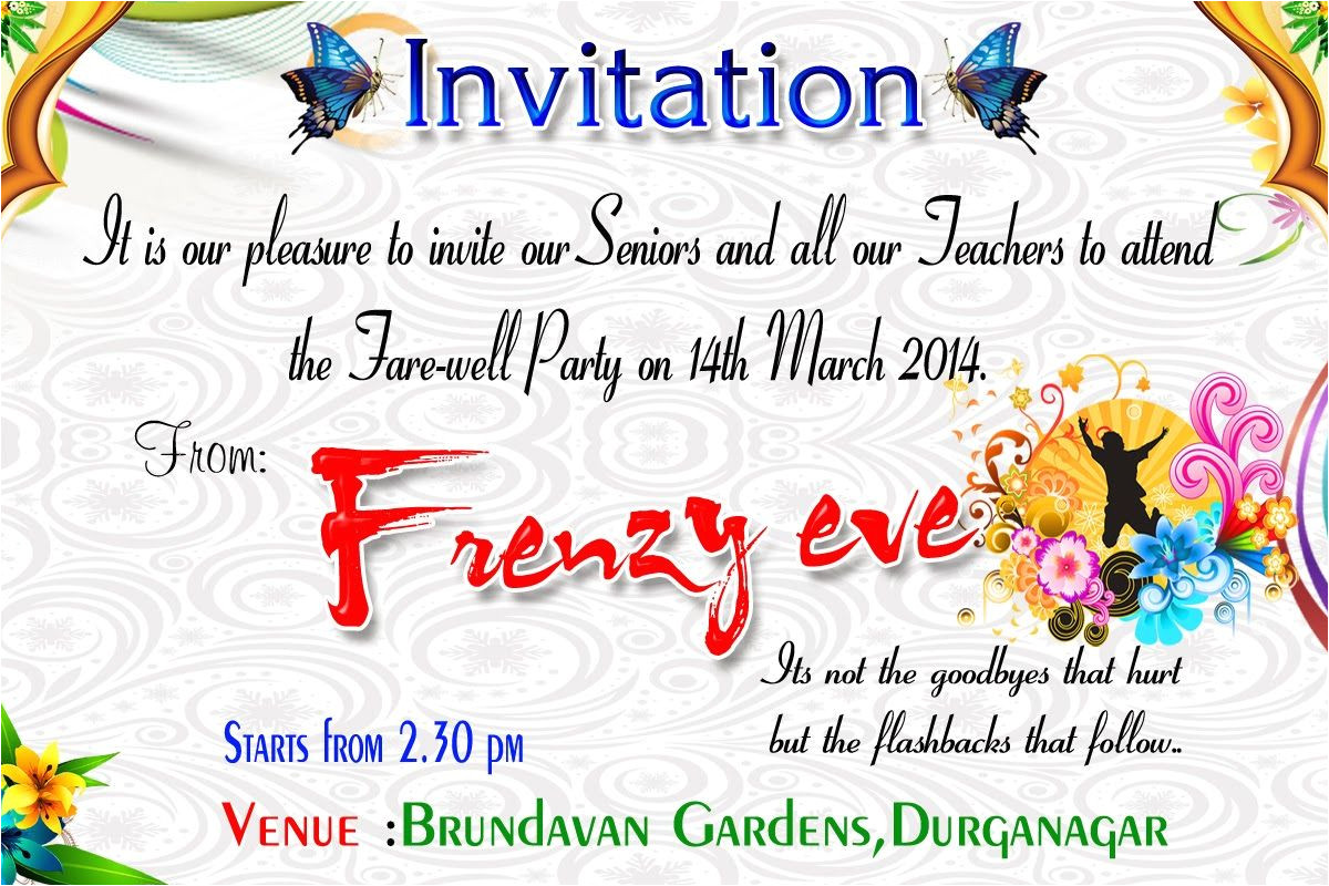 Farewell Invitation Card for Senior Students Beautiful Surprise Party Invitation Template Accordingly