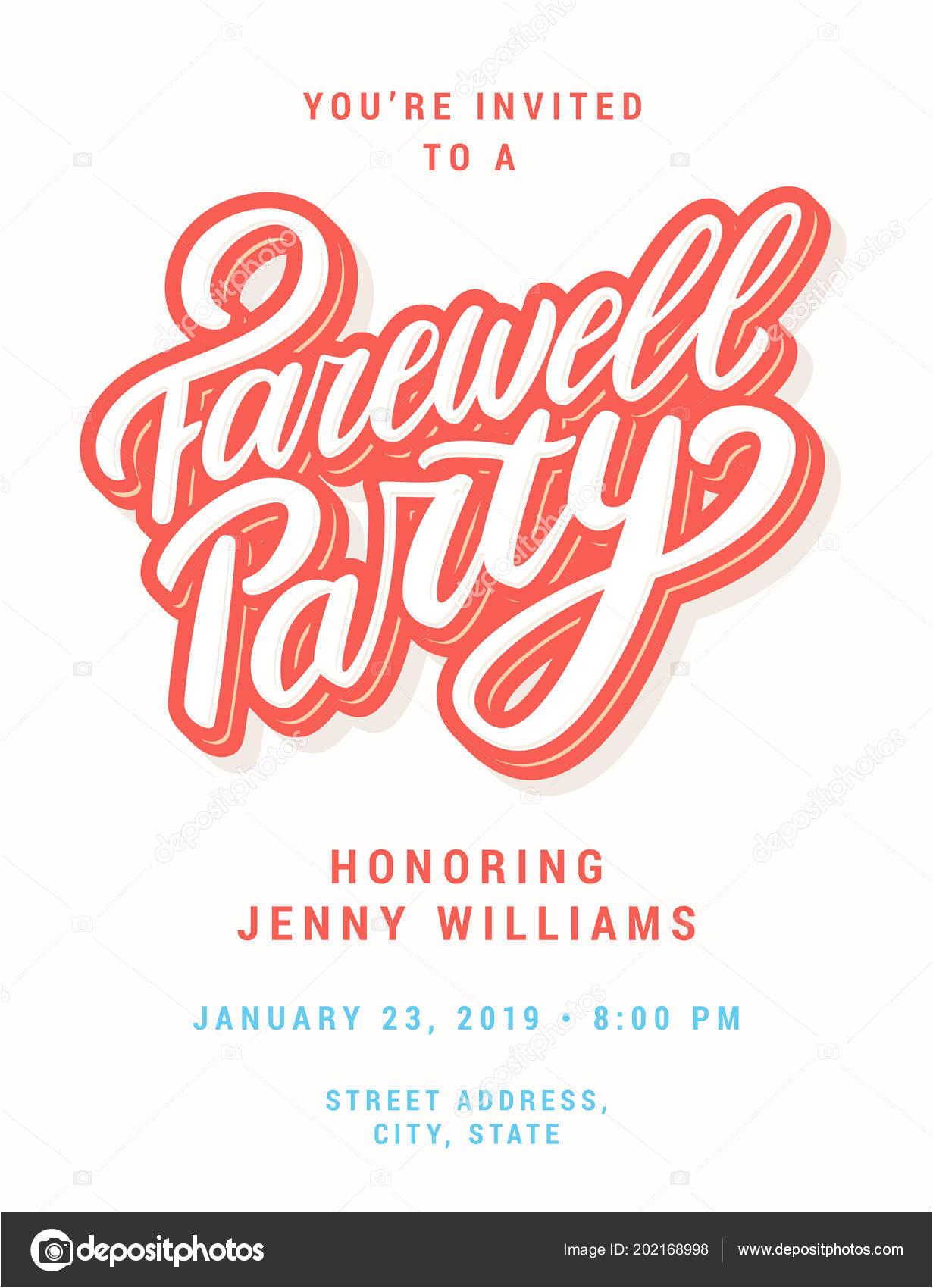 depositphotos 202168998 stock illustration farewell party invitation jpg