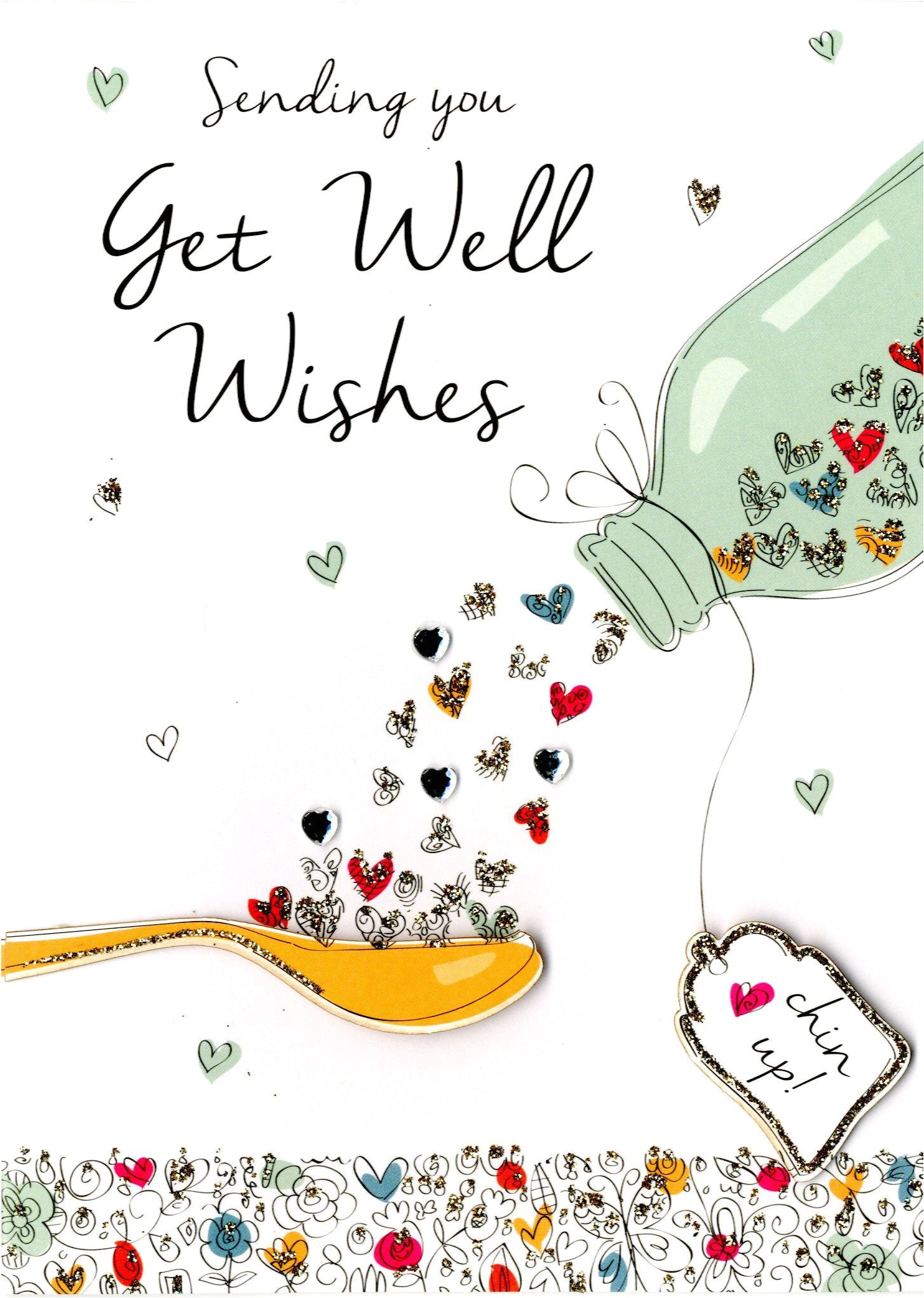 Get Well soon and Happy Birthday Card Birthday