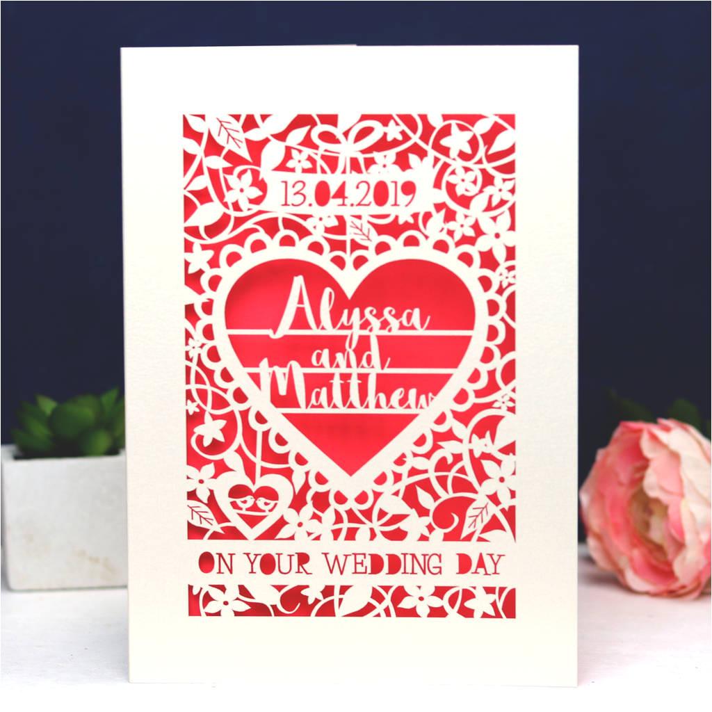 original personalised papercut quotemark0 card jpg