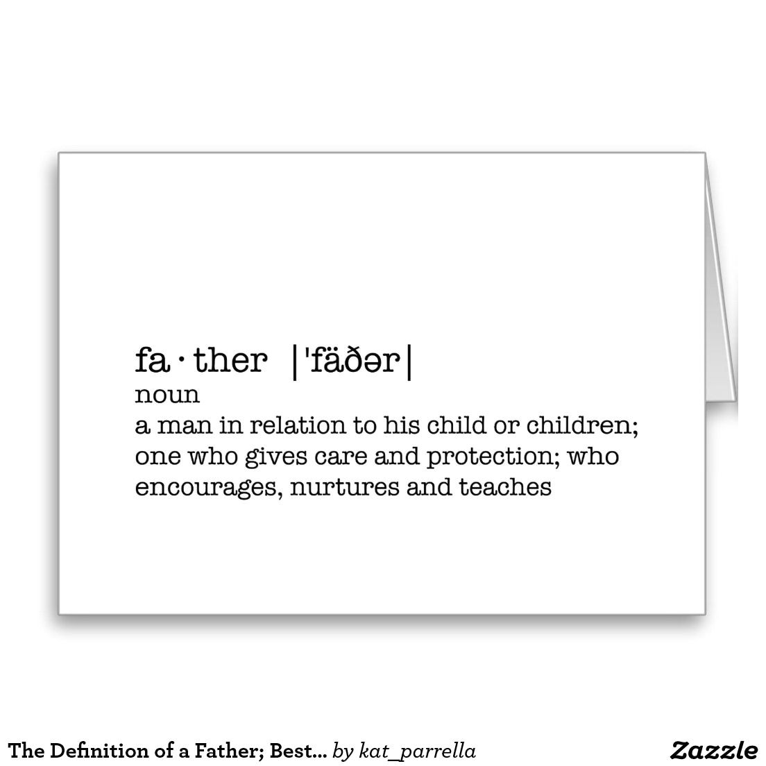 Greeting Card Definition and Example the Definition Of A Father Best Dad In the World Card