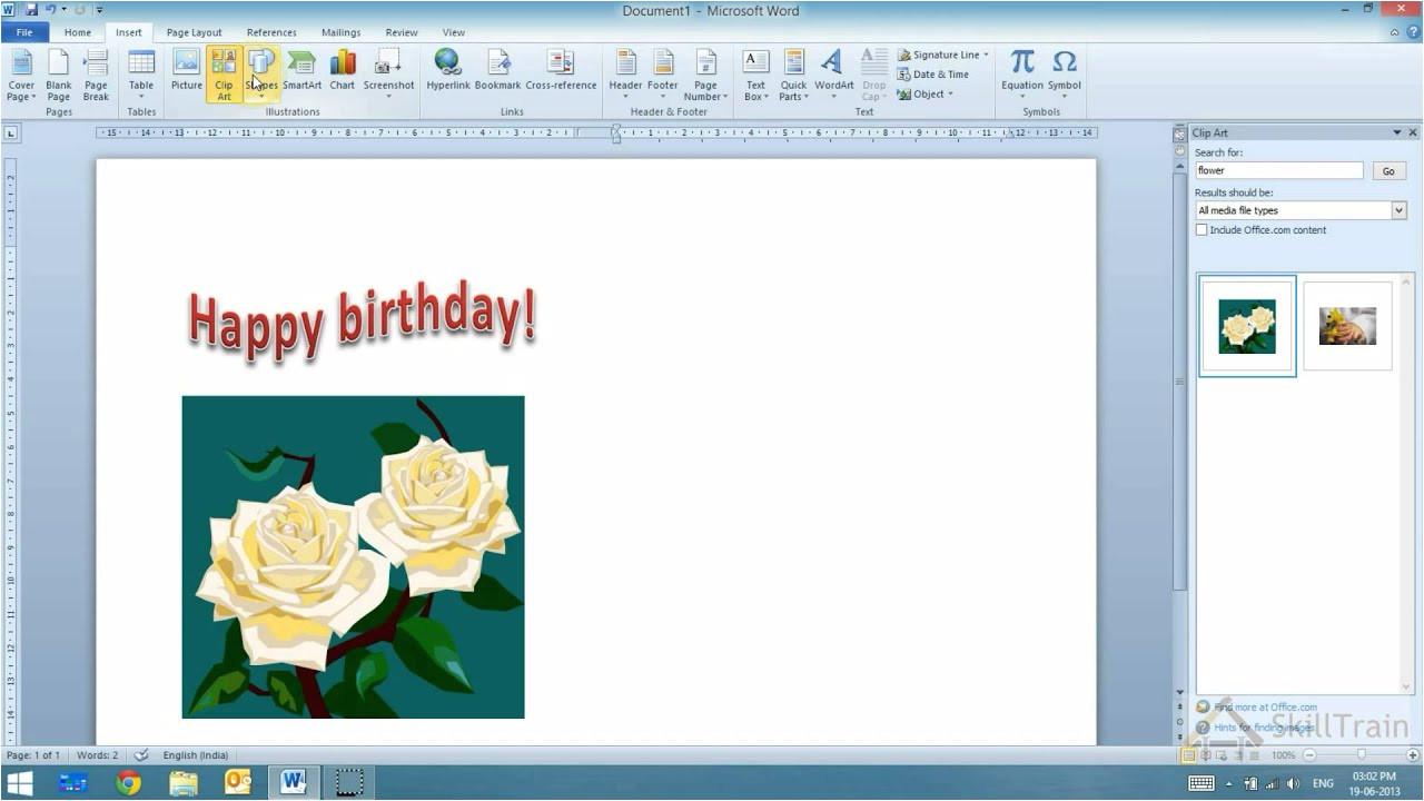 Greeting Card Ke andar Kya Likhe Working with Word Art In Ms Word Hindi A A A A A A