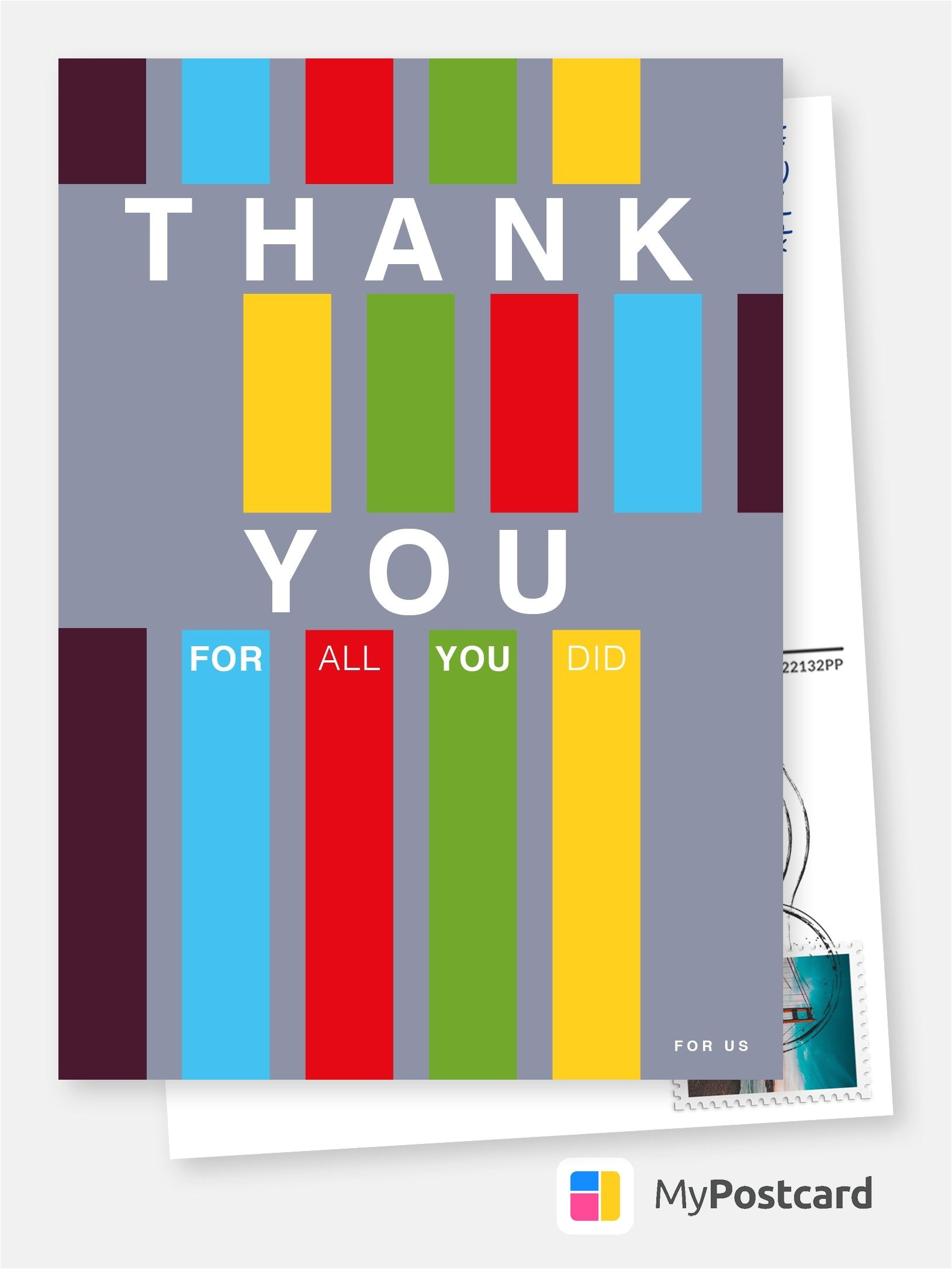 Greeting for Thank You Card Thank You for All You Did Ermutigungskarten Spruche