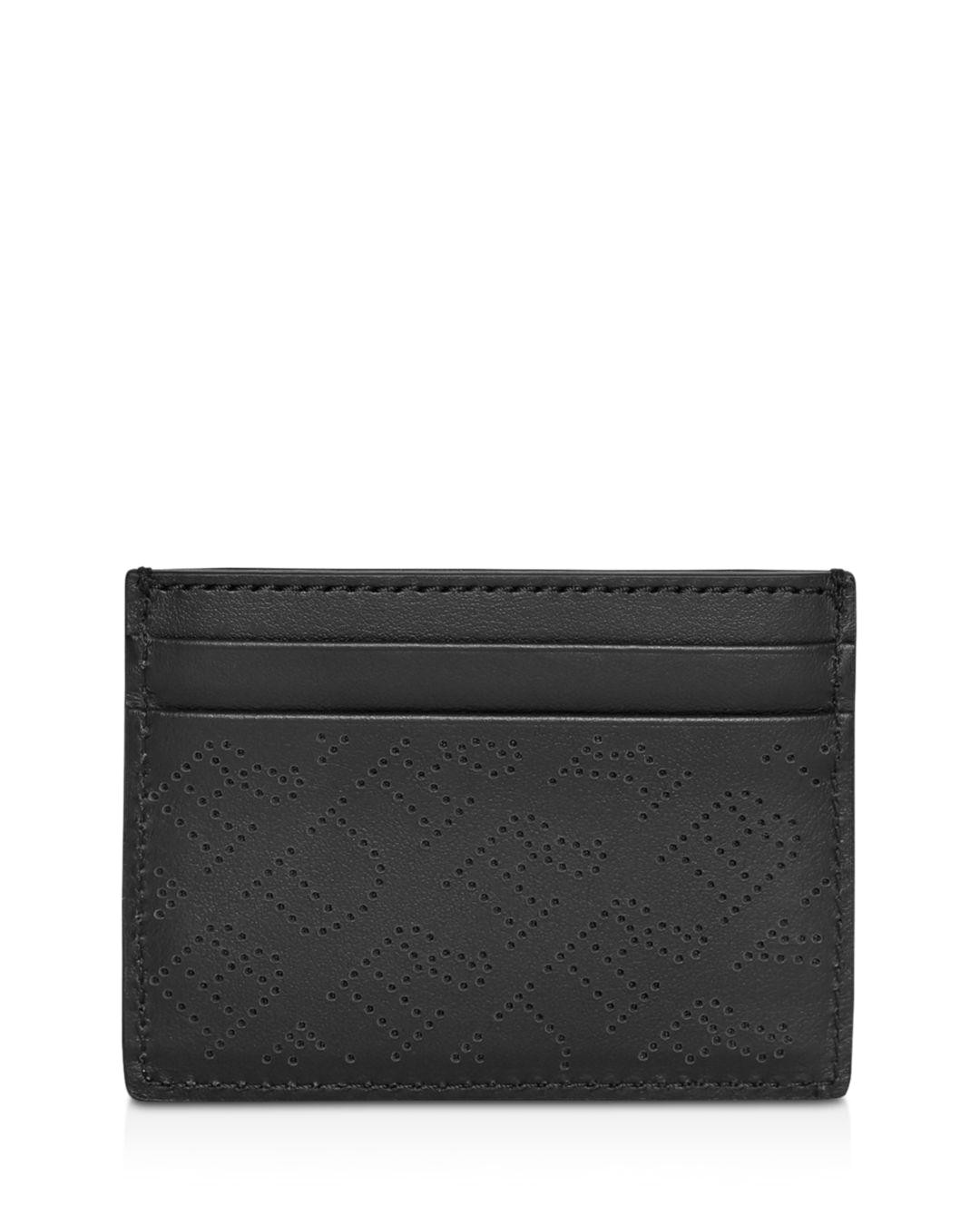 burberry black perforated logo leather card case jpeg