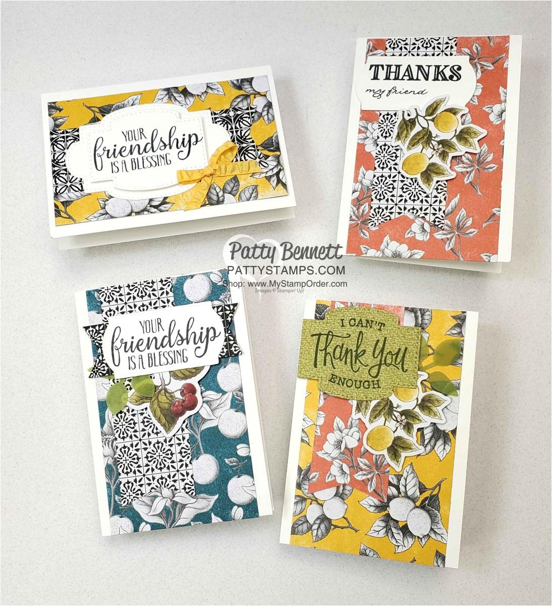 botanical prints card kit banner punch stampin up pattystamps so sentimental jpg