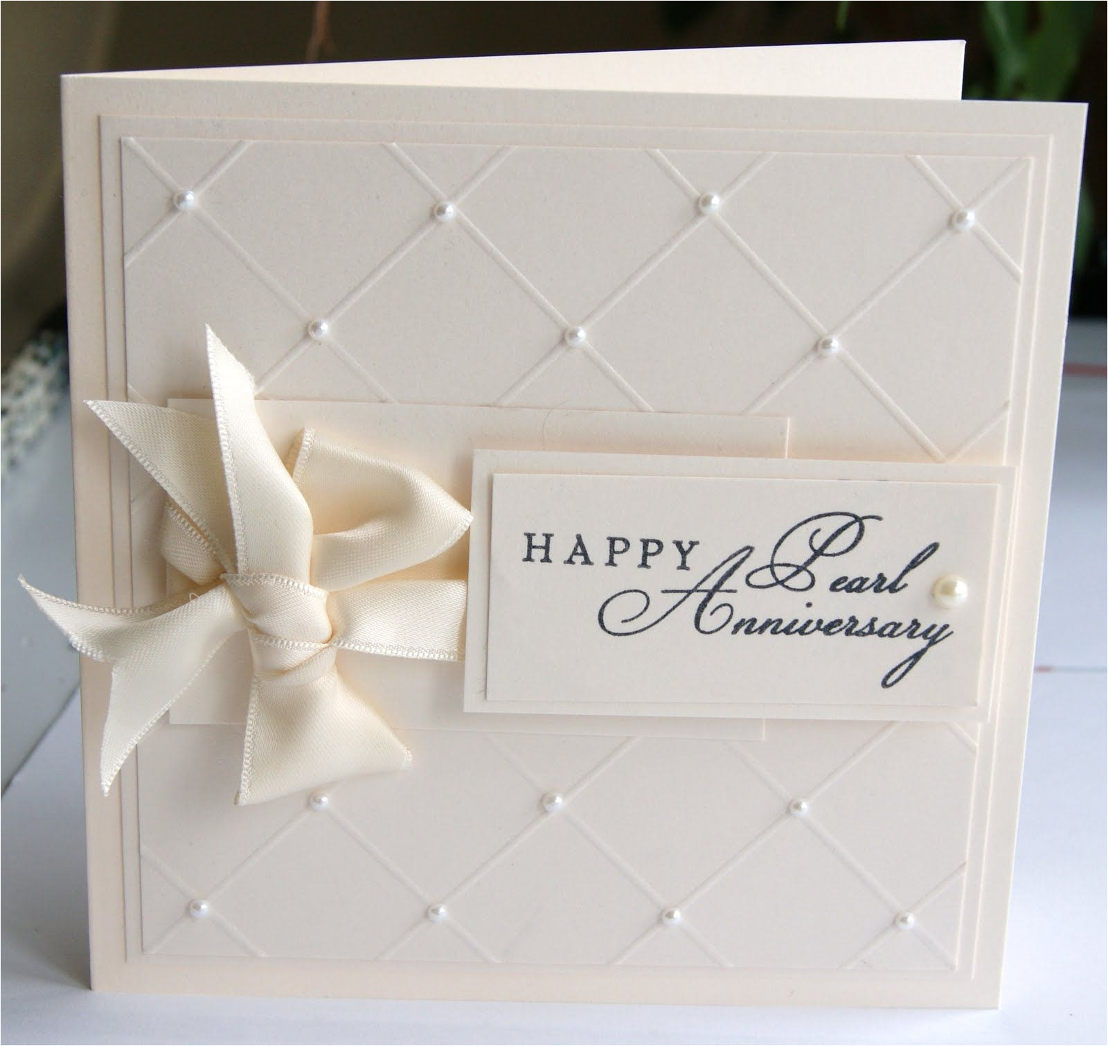 Happy Anniversary Card with Name Pearl Anniversary Card Con Imagenes Invitaciones Para