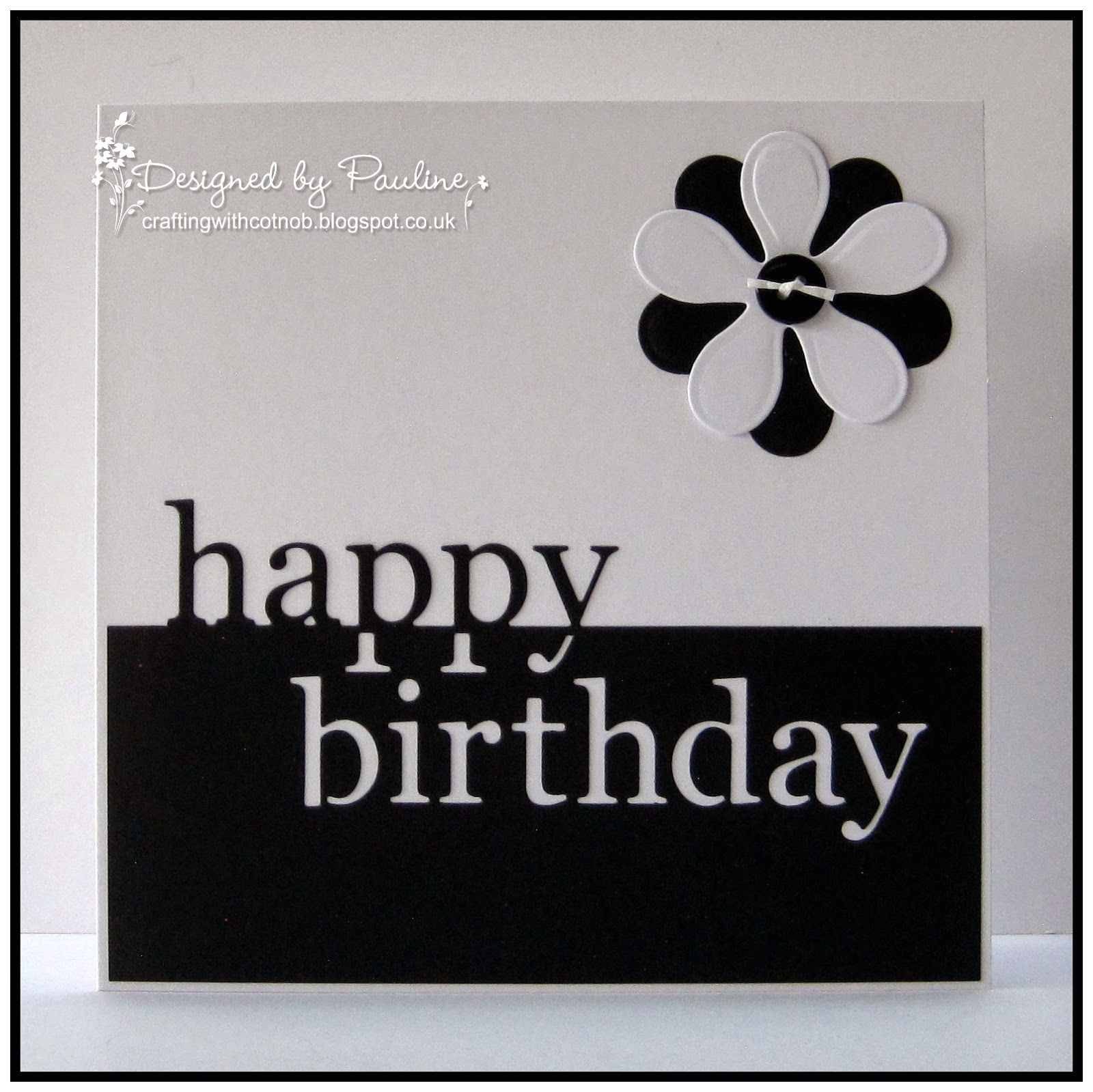 Happy Birthday Card Black and White Black and White Birthday with Images Birthday Greeting
