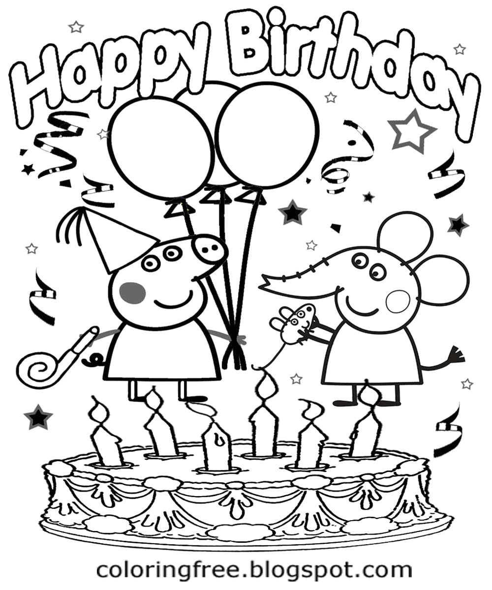 7723845 full peppa pig happy birthday coloring page happy birthday printable peppa pig coloring pages jpeg