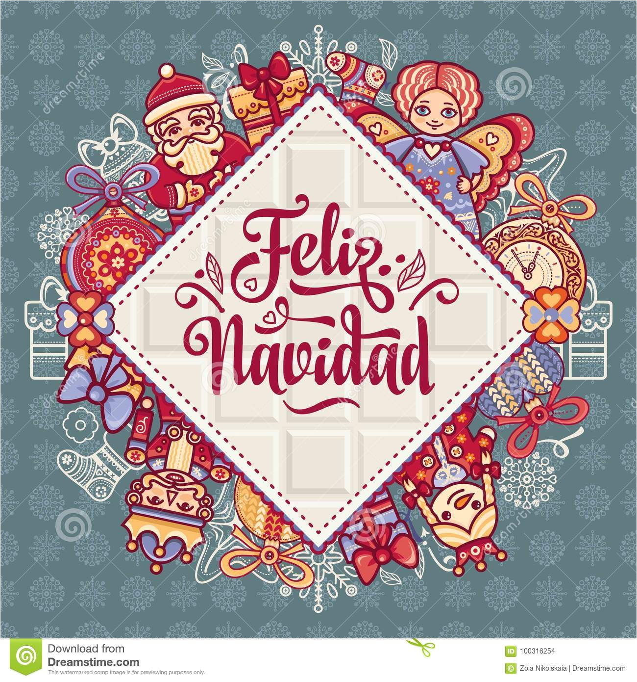 feliz navidad xmas card spanish language christmas decorations invitations greeting cards winter toy warm wishes happy 100316254 jpg