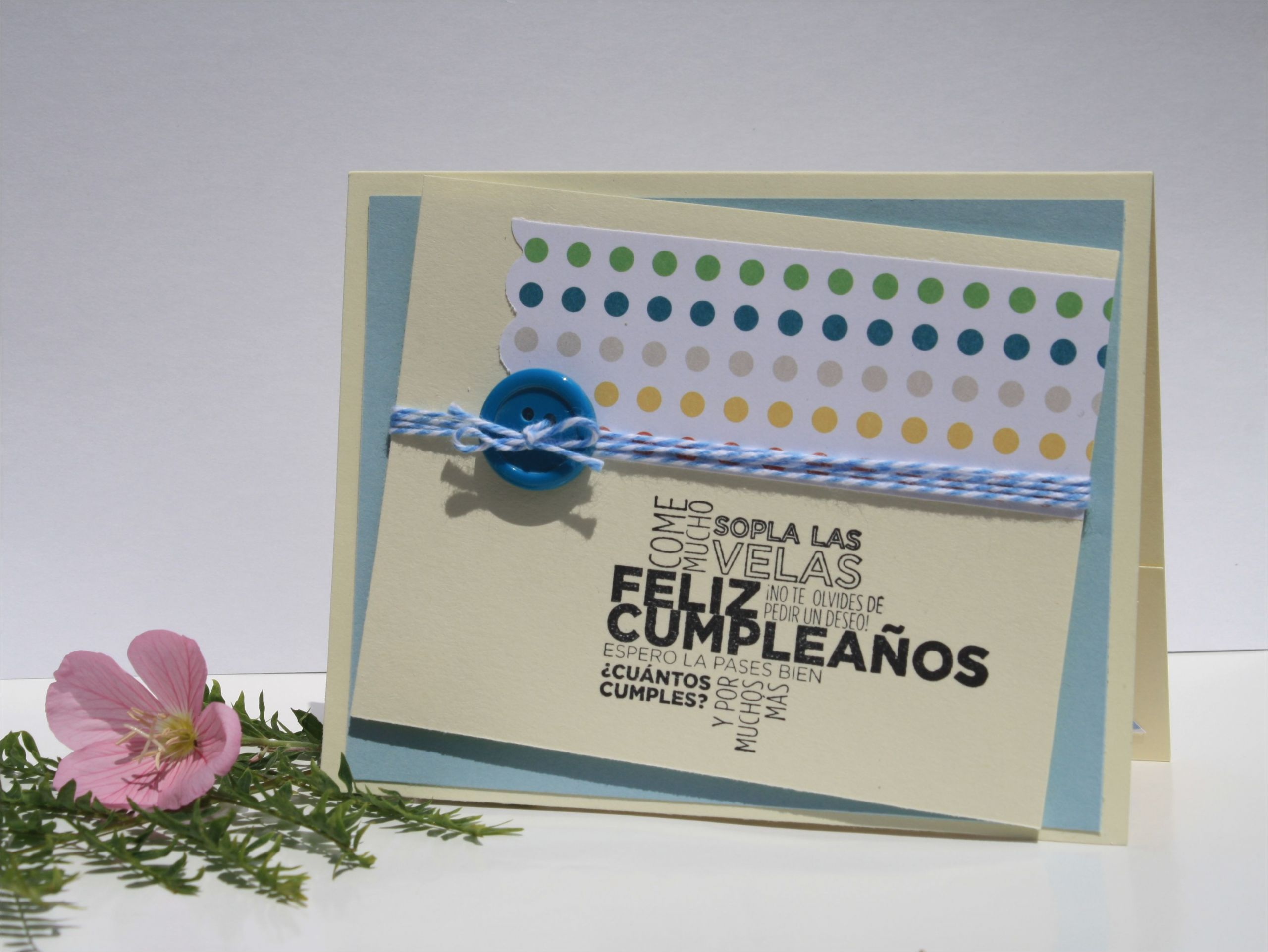 Happy Birthday Card In Spanish Handmade Card Happy Birthday Card In Spanish Happy