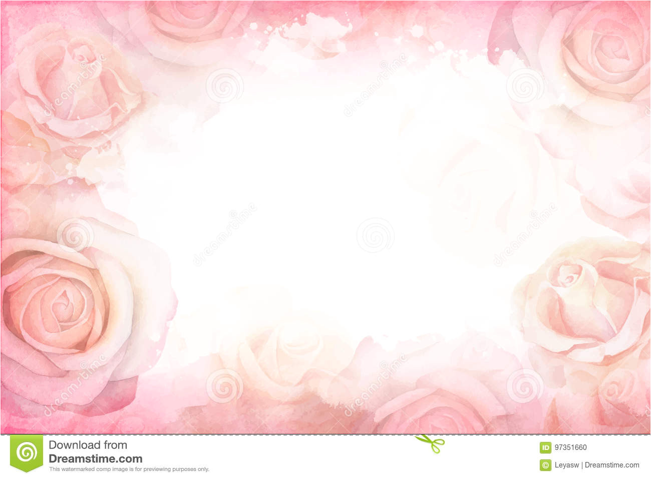 abstract romantic rose horizontal background delicate design template greeting cards invitations 97351660 jpg