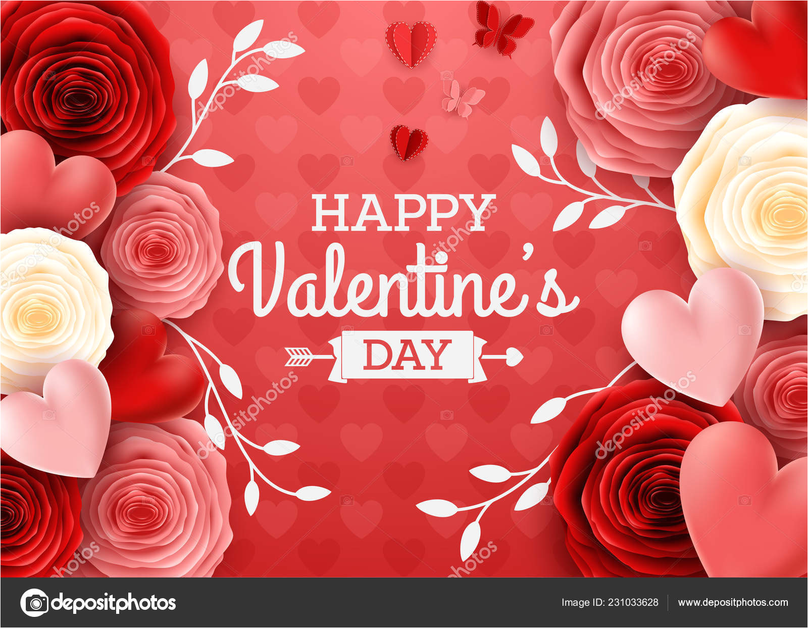 depositphotos 231033628 stock illustration valentines day greeting card rose jpg