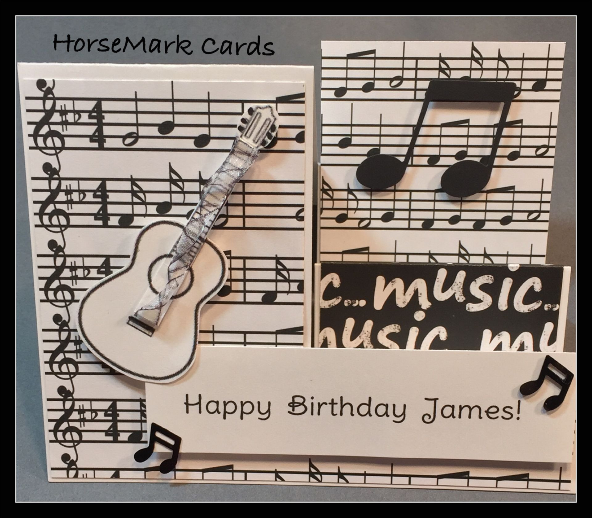 Happy Birthday Card with Music the Strings On This Birthday Card Has Twisted Ribbon that