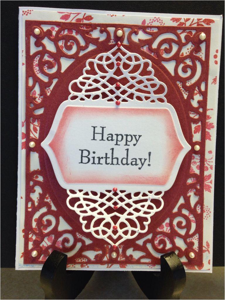 Happy Birthday Dies for Card Making Spellbinders Filigree Delights Tranquil Moments Dies
