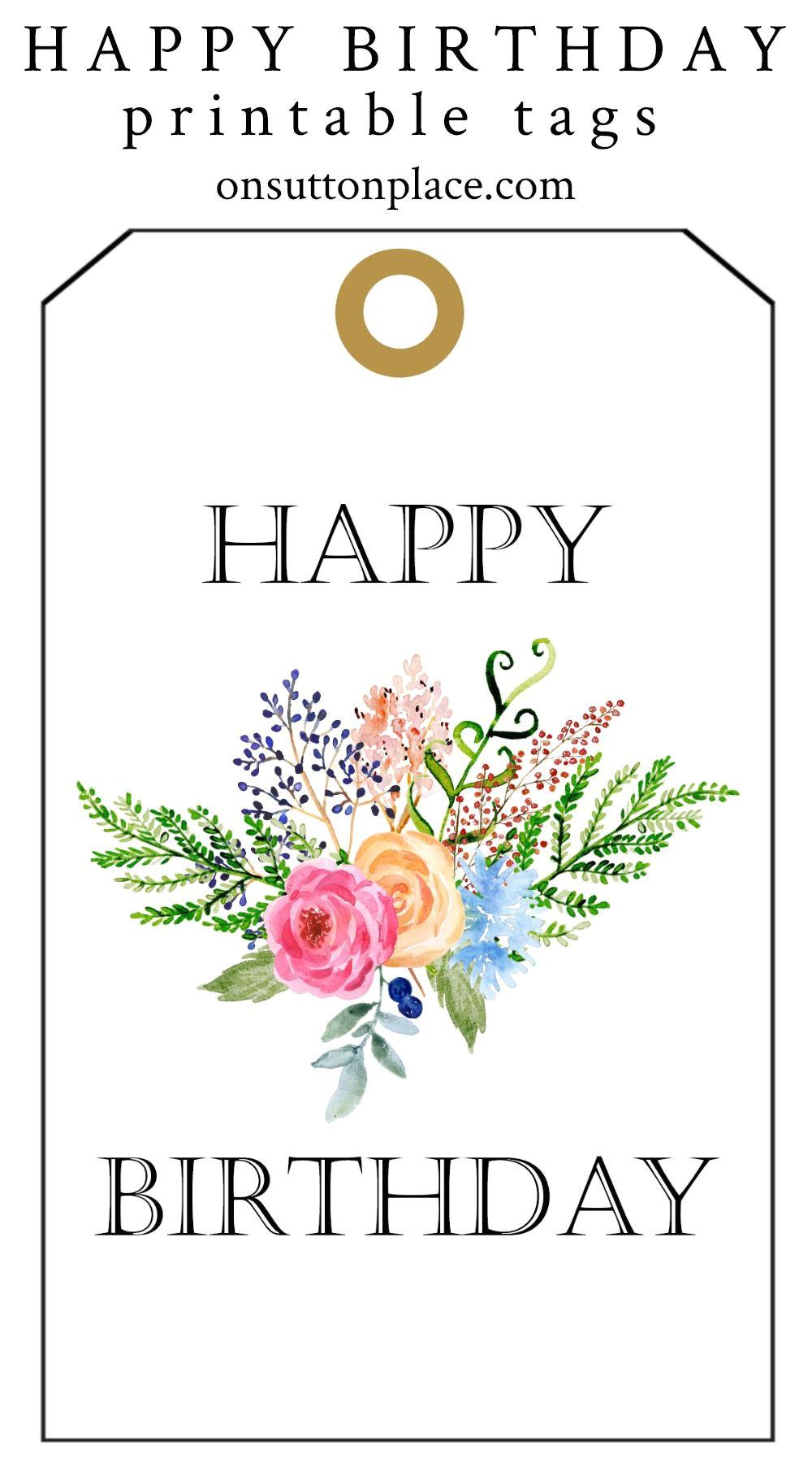 Happy Birthday Free Printable Card Happy Birthday Free Printable Gift Tags Birthday Gift Tags