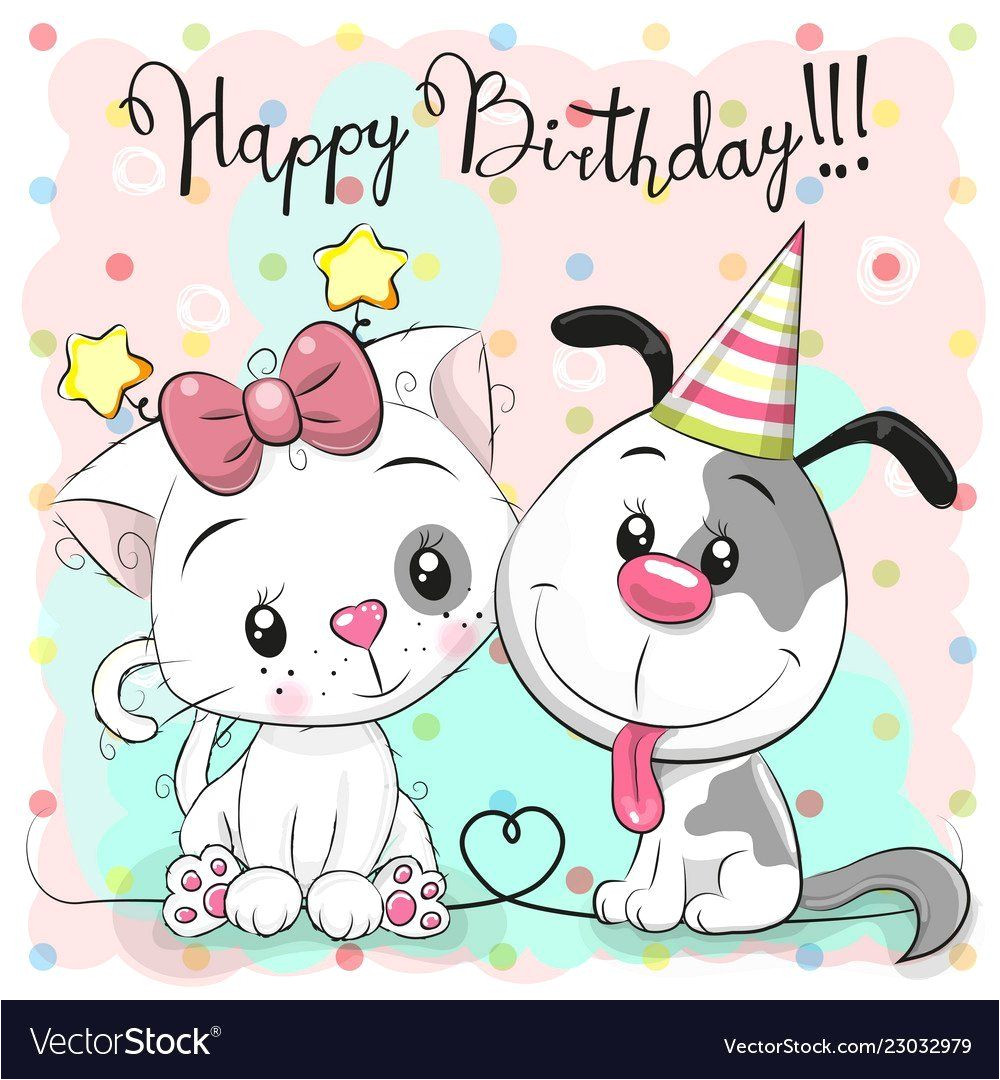 Happy Birthday From the Cat Card Happy Birthday Cat Card In 2020 with Images Happy