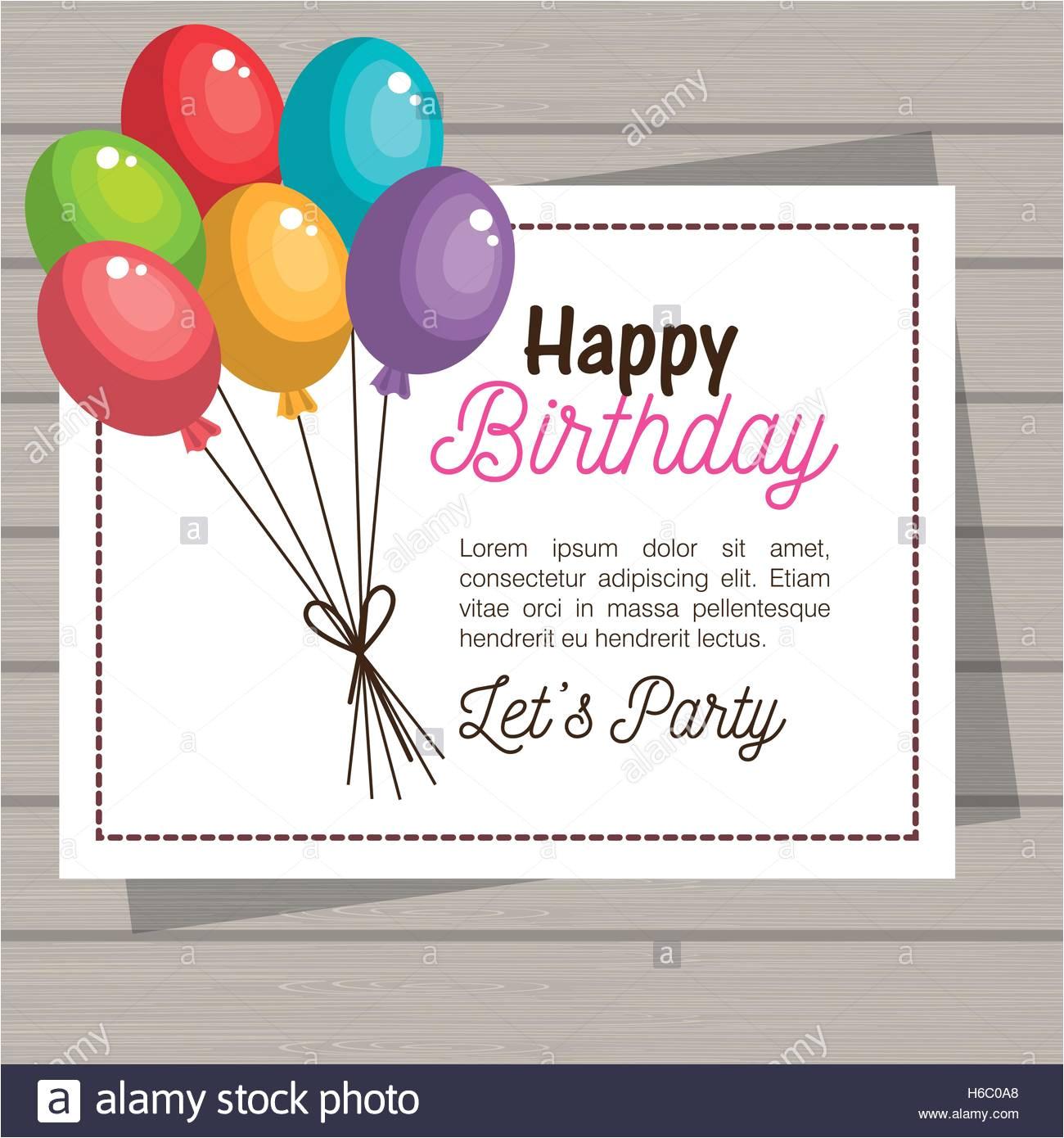 Happy Birthday Invitation Card Images Happy Birthday Invitation Card Stock Vector Art