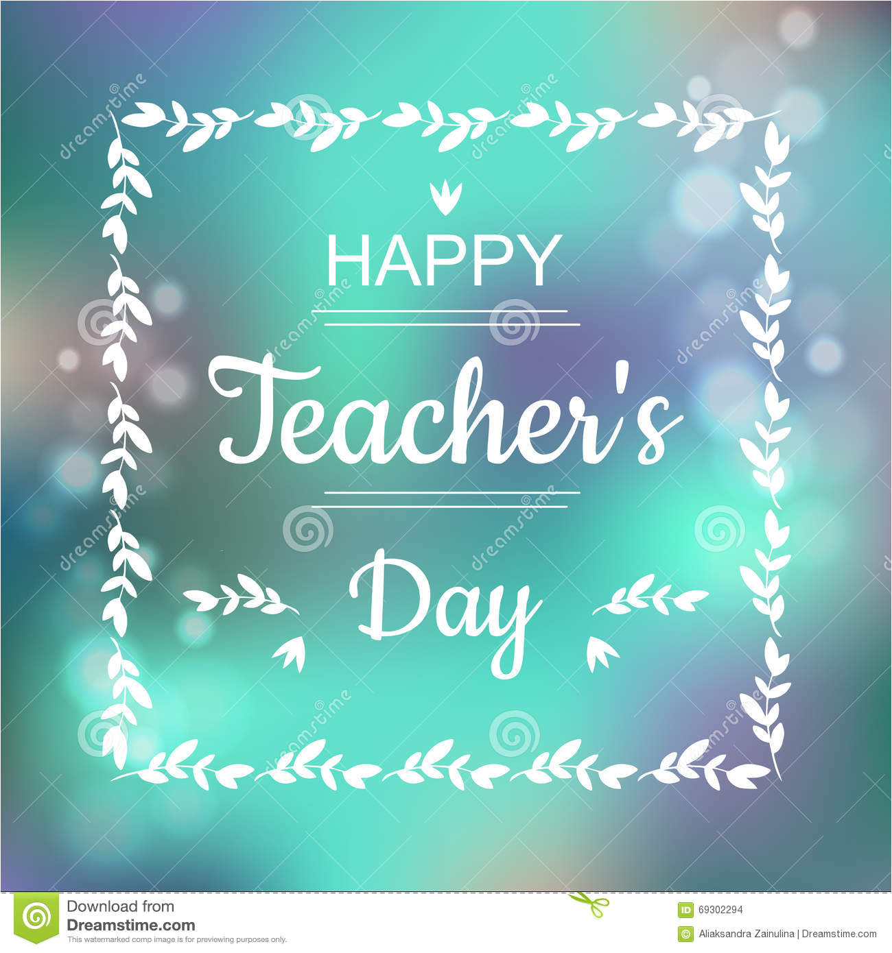 greeting card happy teachers day abstract background text square frame vector format illustration 69302294 jpg