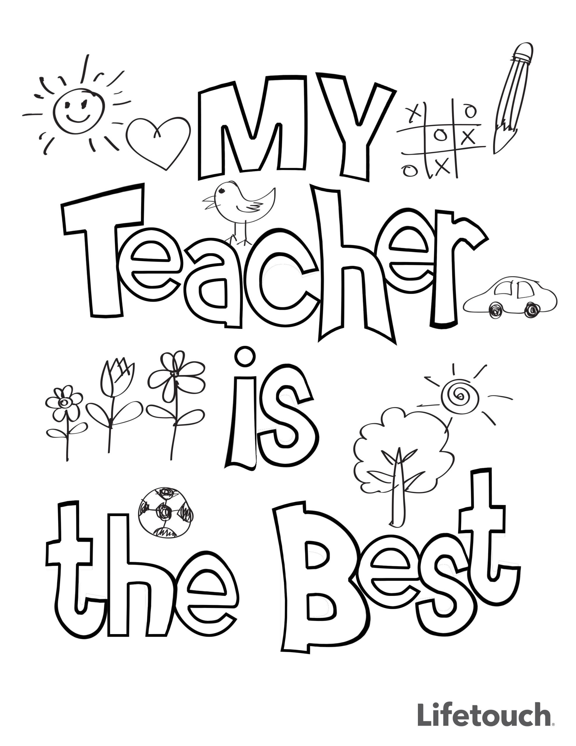 Happy Teachers Day Card Printable Teacher Appreciation Coloring Sheet with Images Teacher