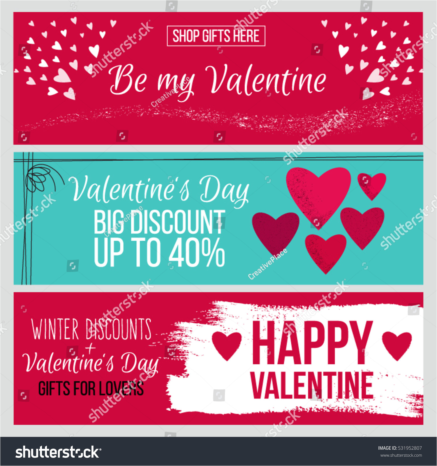 stock vector set od modern flat valentine s day greetings cards banners vouchers and sale promotion flyers cards 531952807 jpg