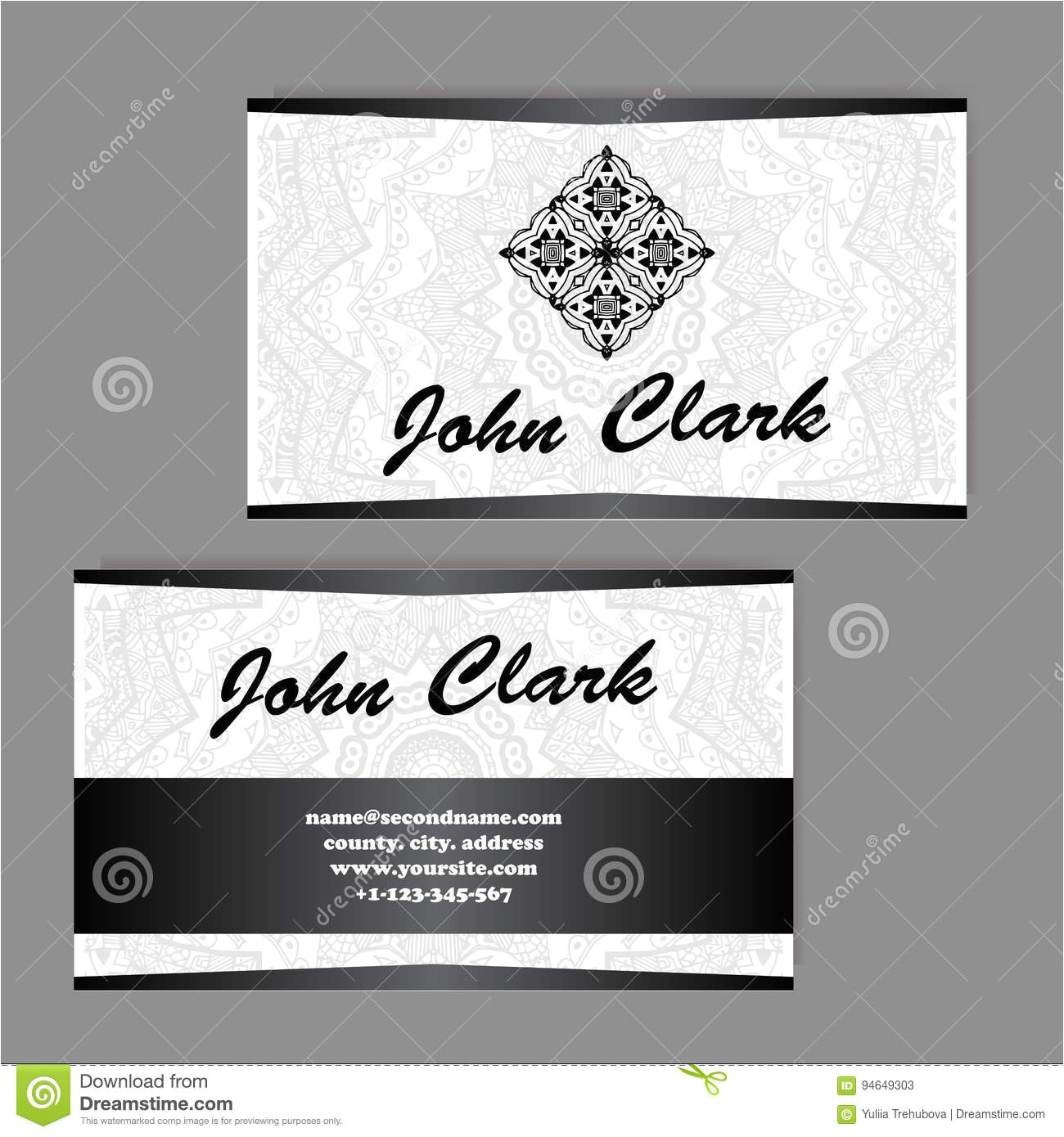 vector template business card geometric background card invitation collection islam indian ottoman motifs arabic 94649303 jpg
