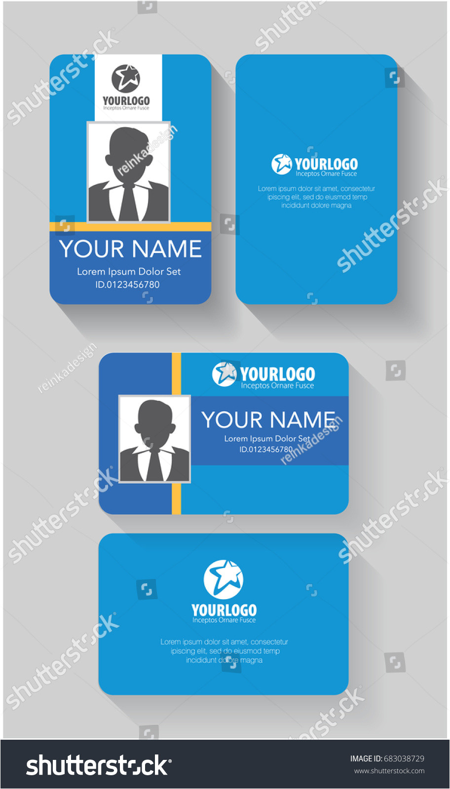 stock vector creative id card template with abstract blue element background design 683038729 jpg