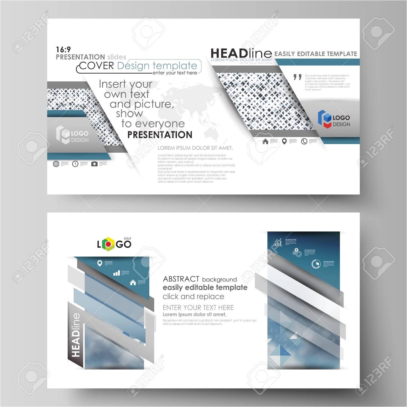 69772065 business vorlagen im hd format f c3 bcr pr c3 a4sentationsfolien vektor layouts in flachen stil blaues farbmuster m jpg